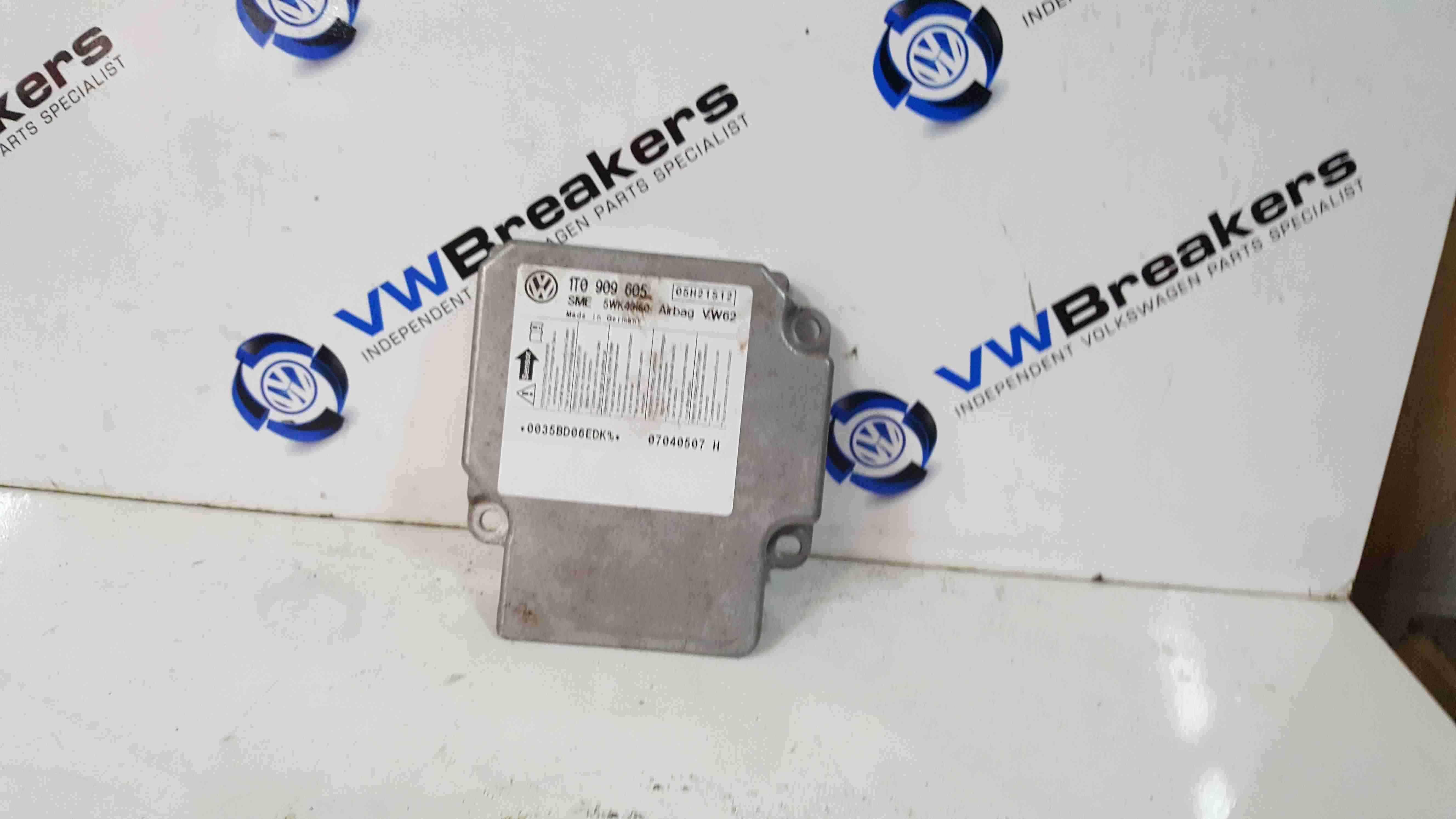 Volkswagen Touran 2003-2006 Airbag ECU Module Computer 1T0909605