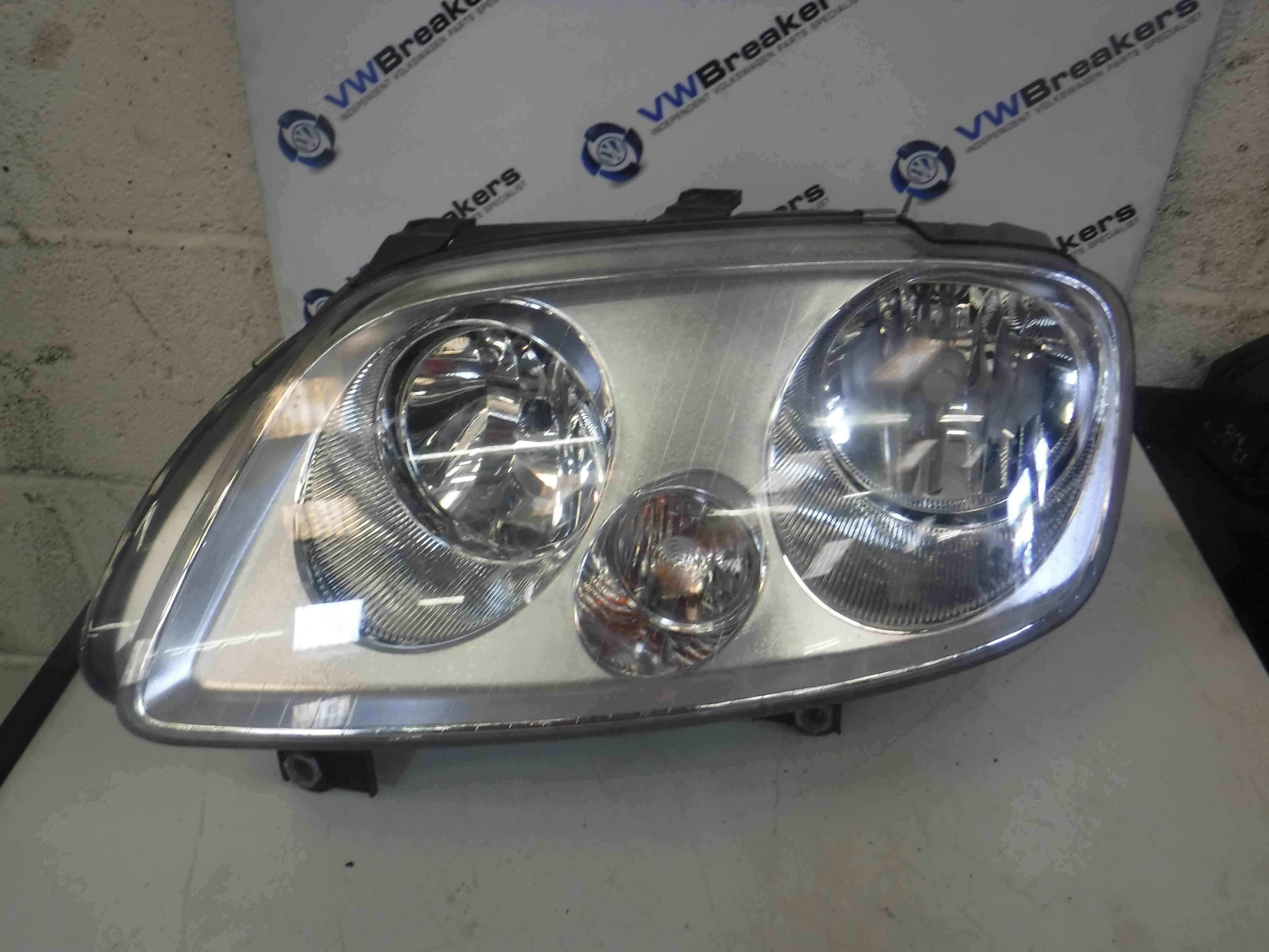Volkswagen Touran 2003-2006 Passenger NSF Front Headlight Silver Backing