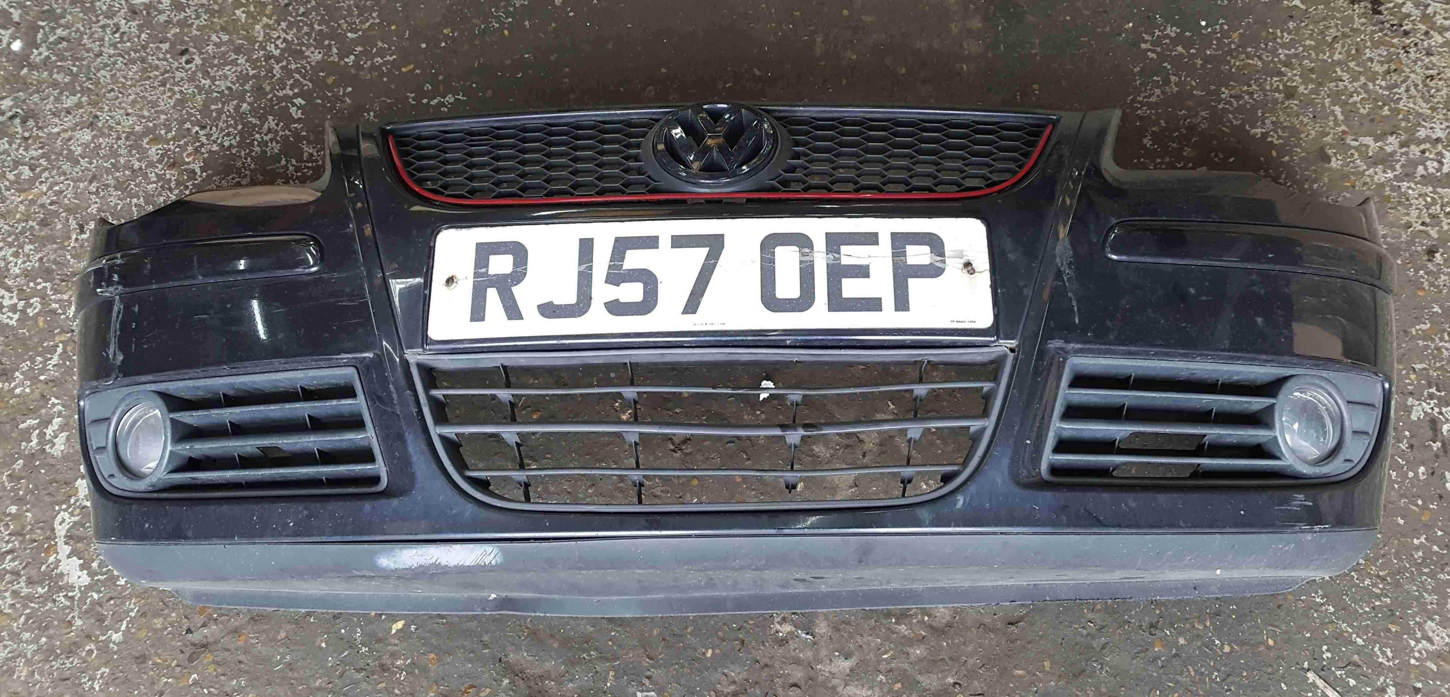 Volkwagen Polo 9N3 GTi 2006-2008 Front Bumper Black LC9Z