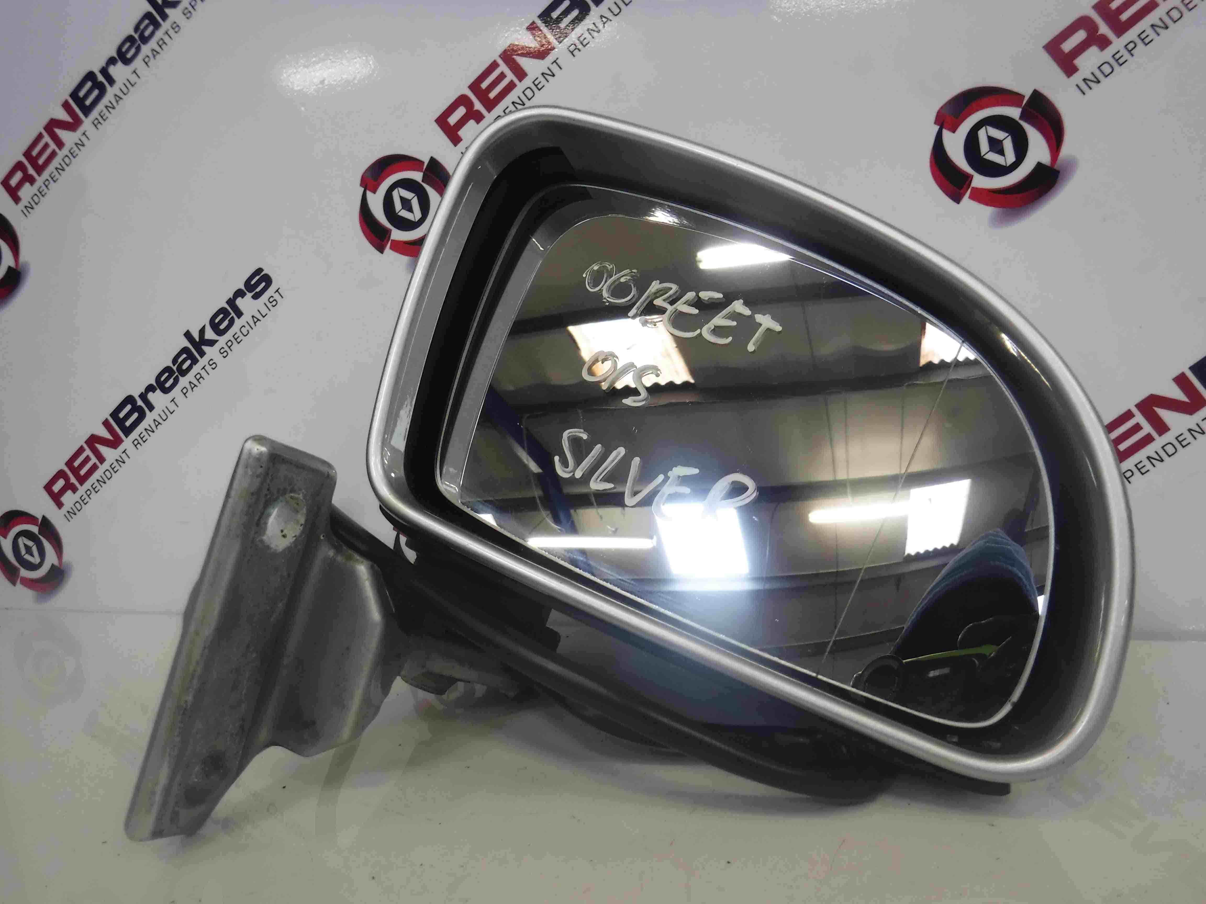 Volkswagen Beetle 1998-2006 Drivers OSF Front Wing Mirror Silver LA7W