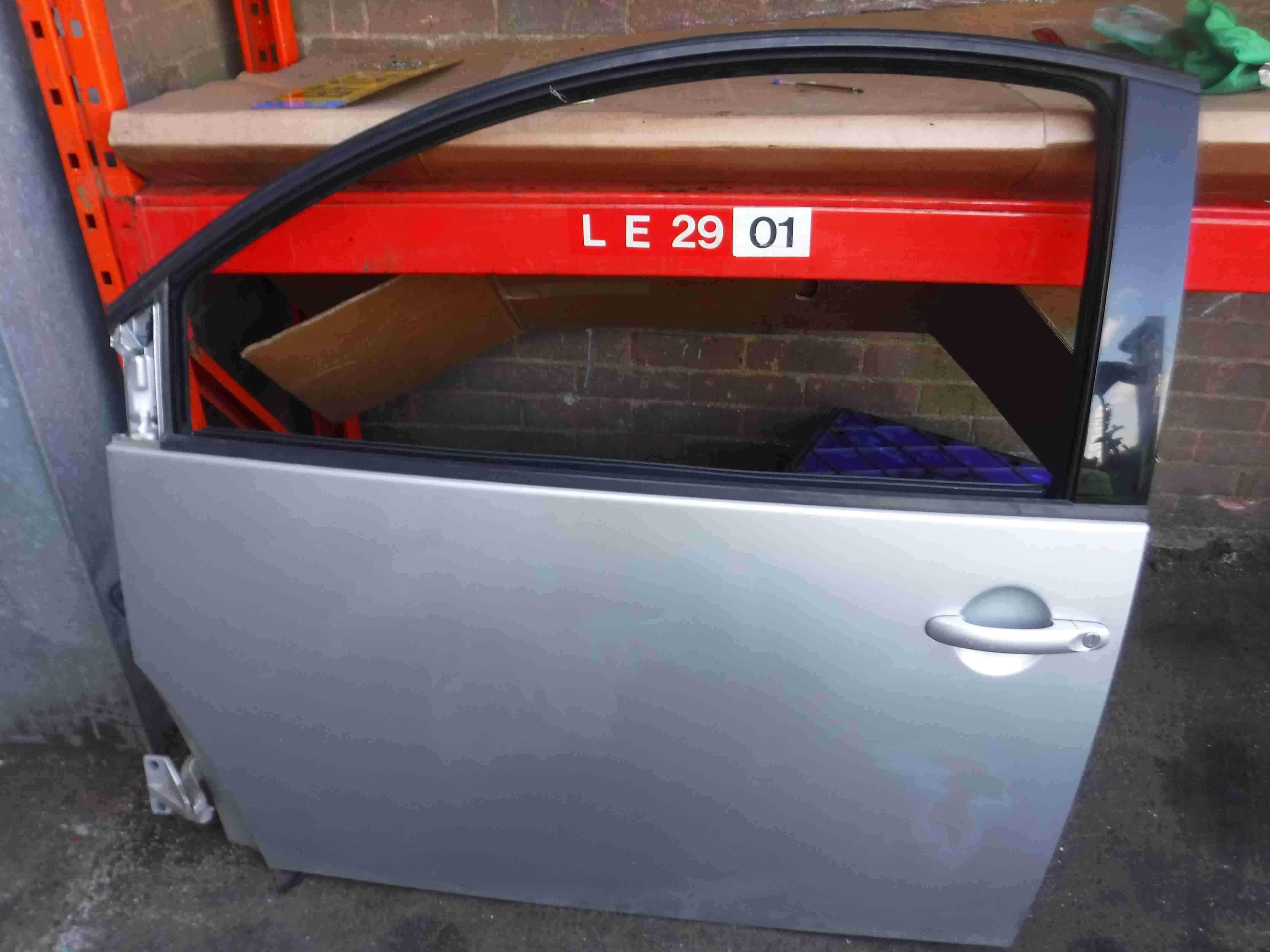 Volkswagen Beetle 1998-2006 Passenger NSF Front Door Silver