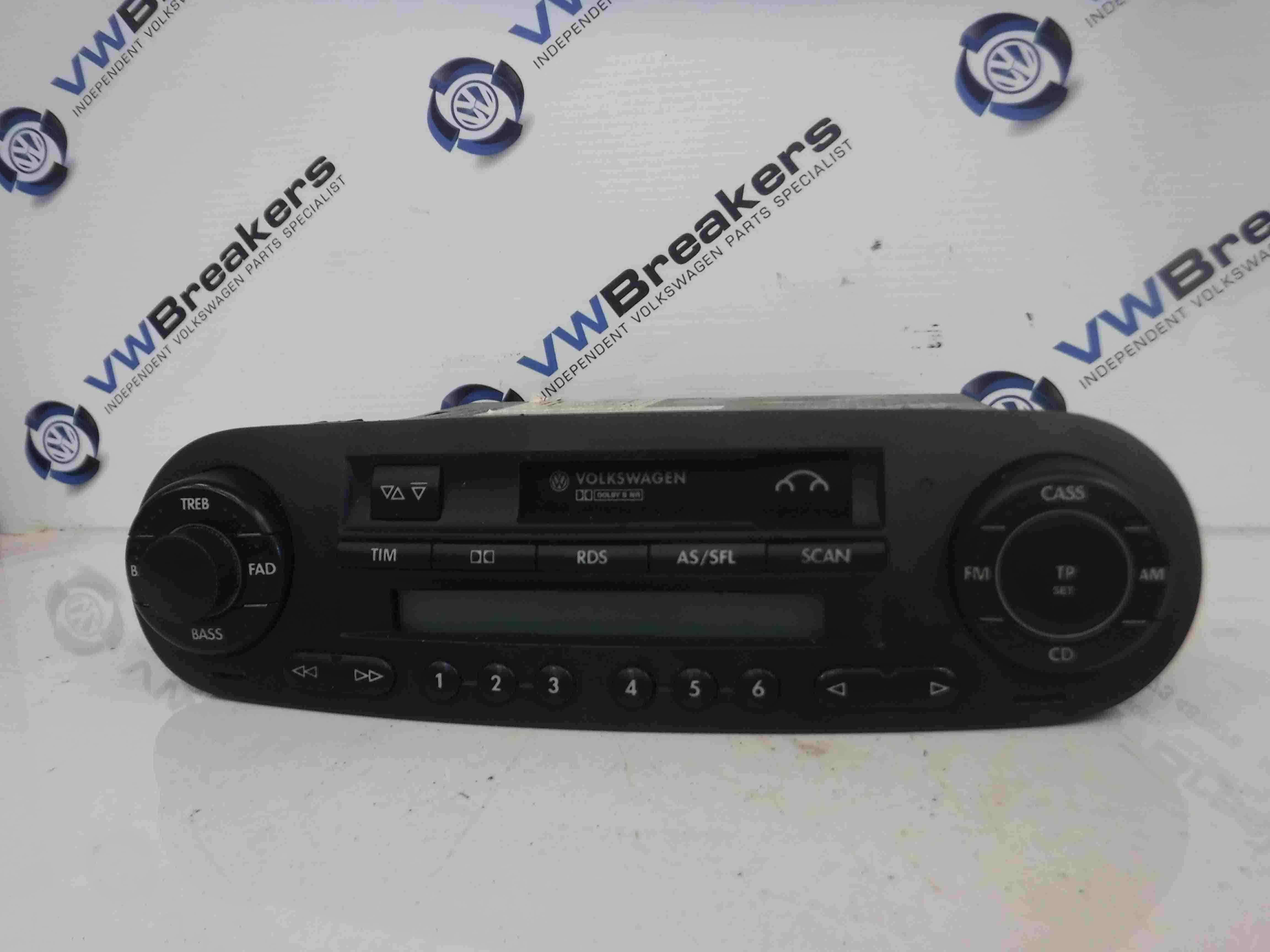 Volkswagen Beetle 1998-2006 Radio Casette Tape Player With CODE 1C0035186