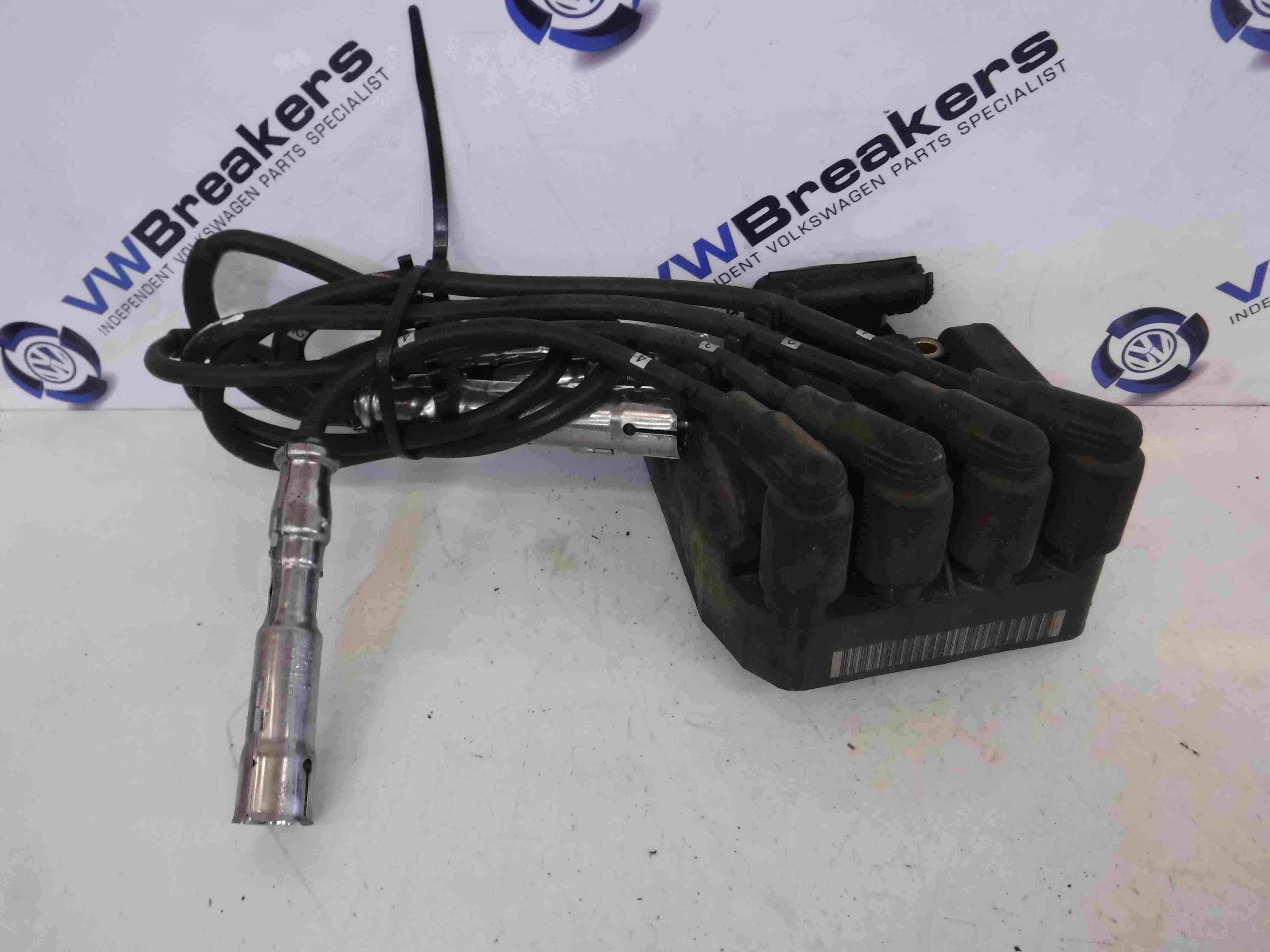 Volkswagen Beetle 2000-2006 2.0 8v Ignition Coil Pack  Leads AZJ 06a905097