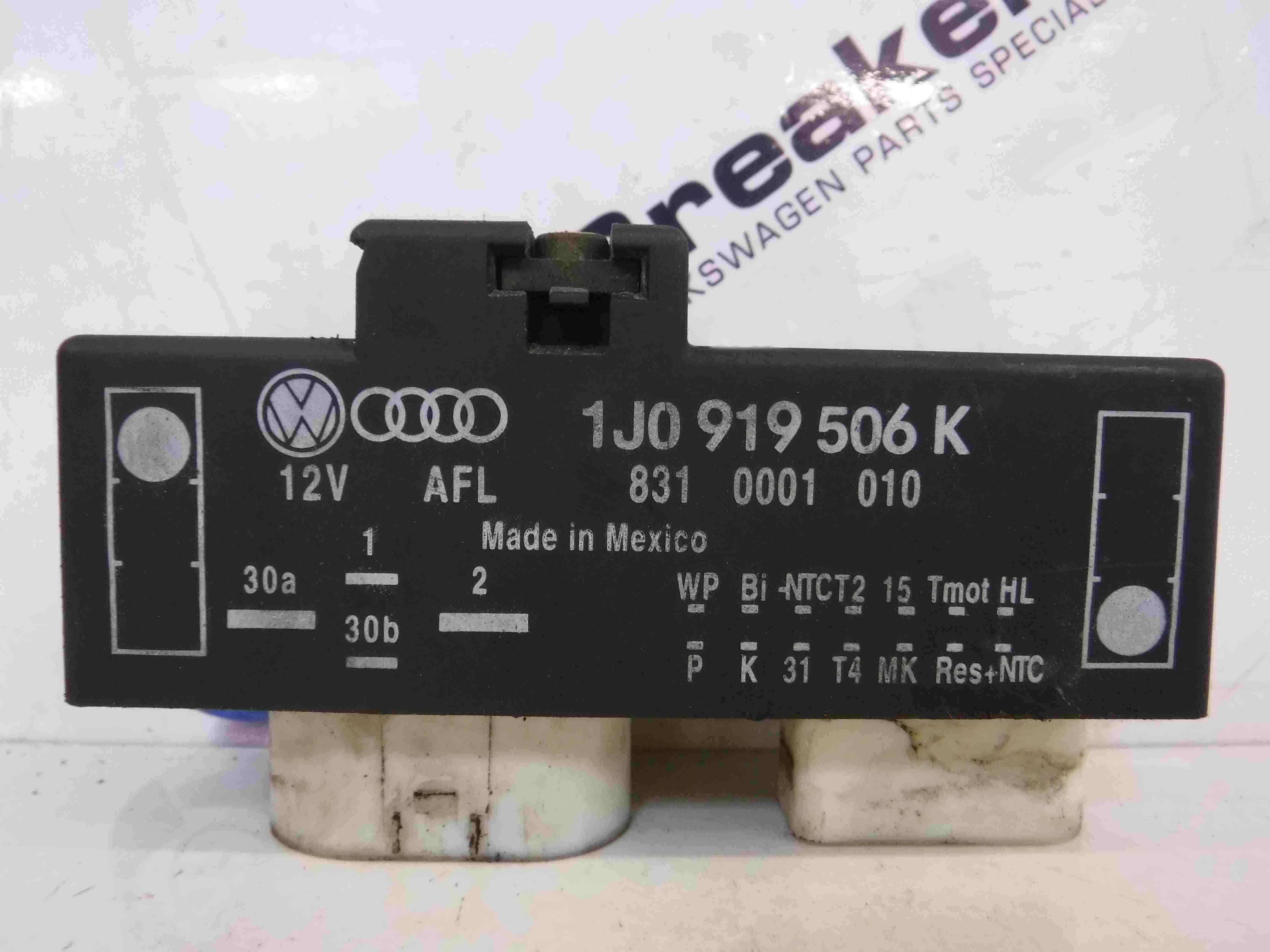 Volkswagen Beetle 1999-2006 Fan Control Unit Relay 1J0919506K