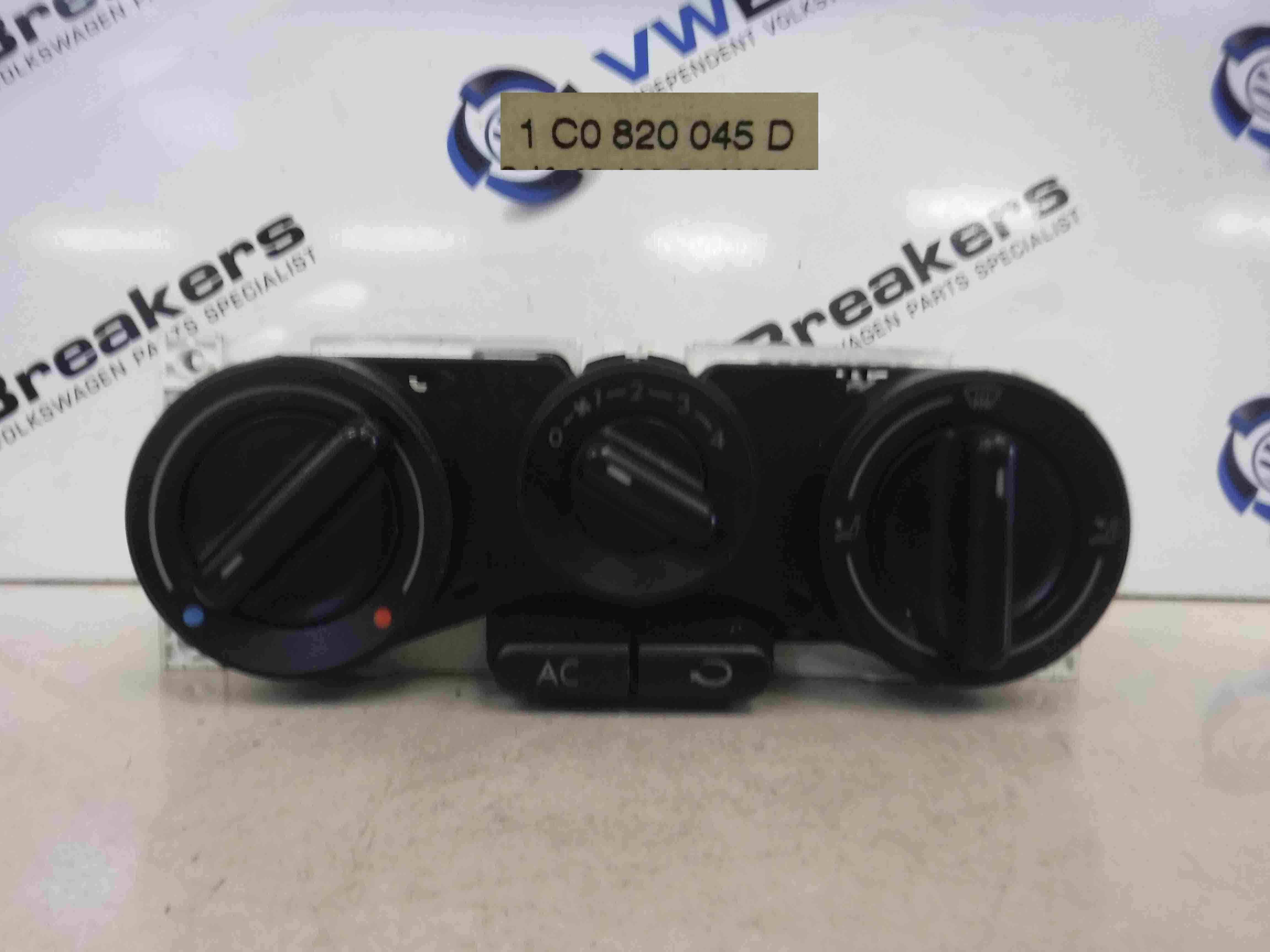 Volkswagen Beetle 1999-2006 Heater Controls Panel Switch 1C0820045D