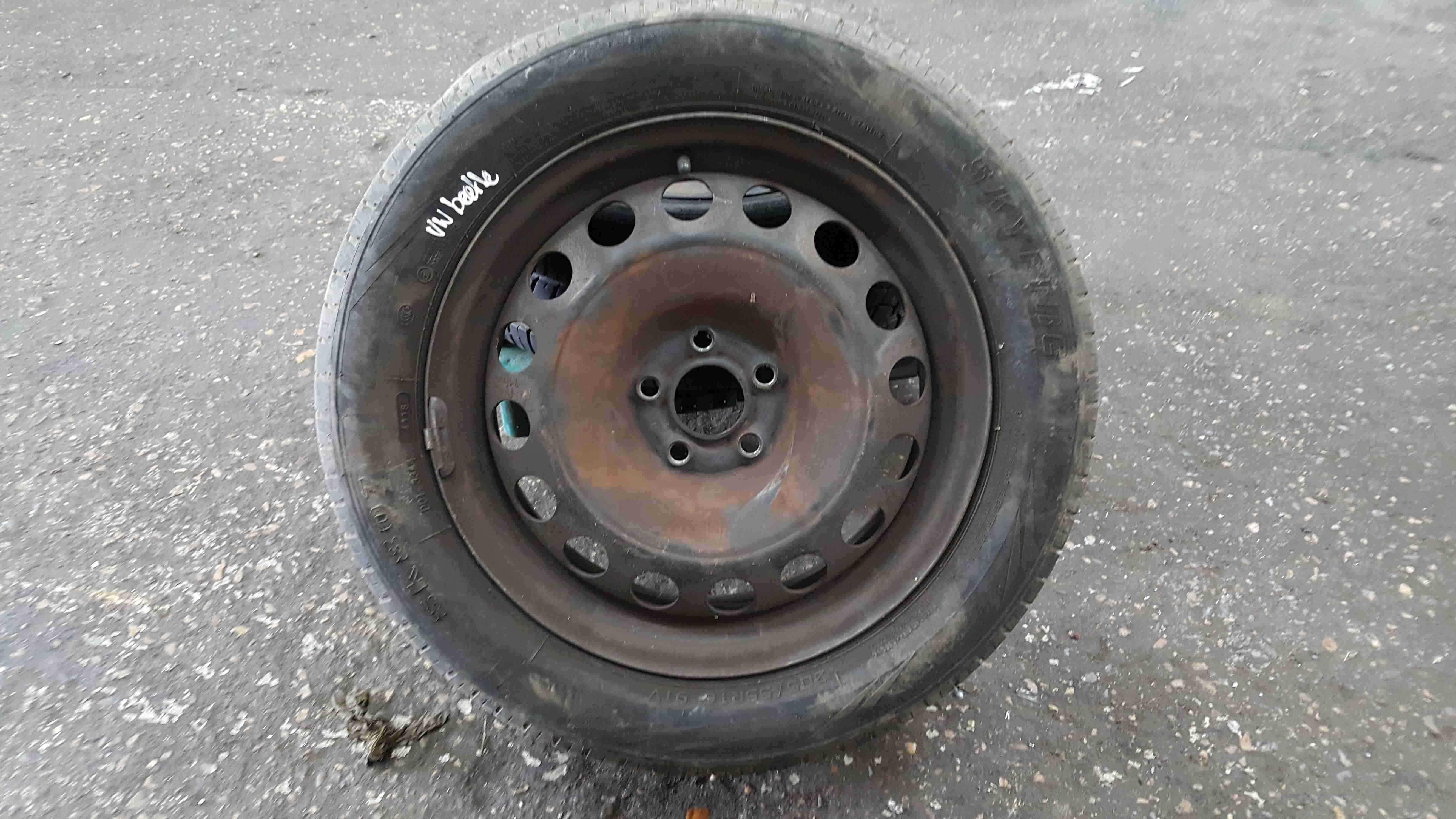 Volkswagen Beetle 1999-2006 Steel Wheel Rim  Tyre 205 55 16 7mm 1