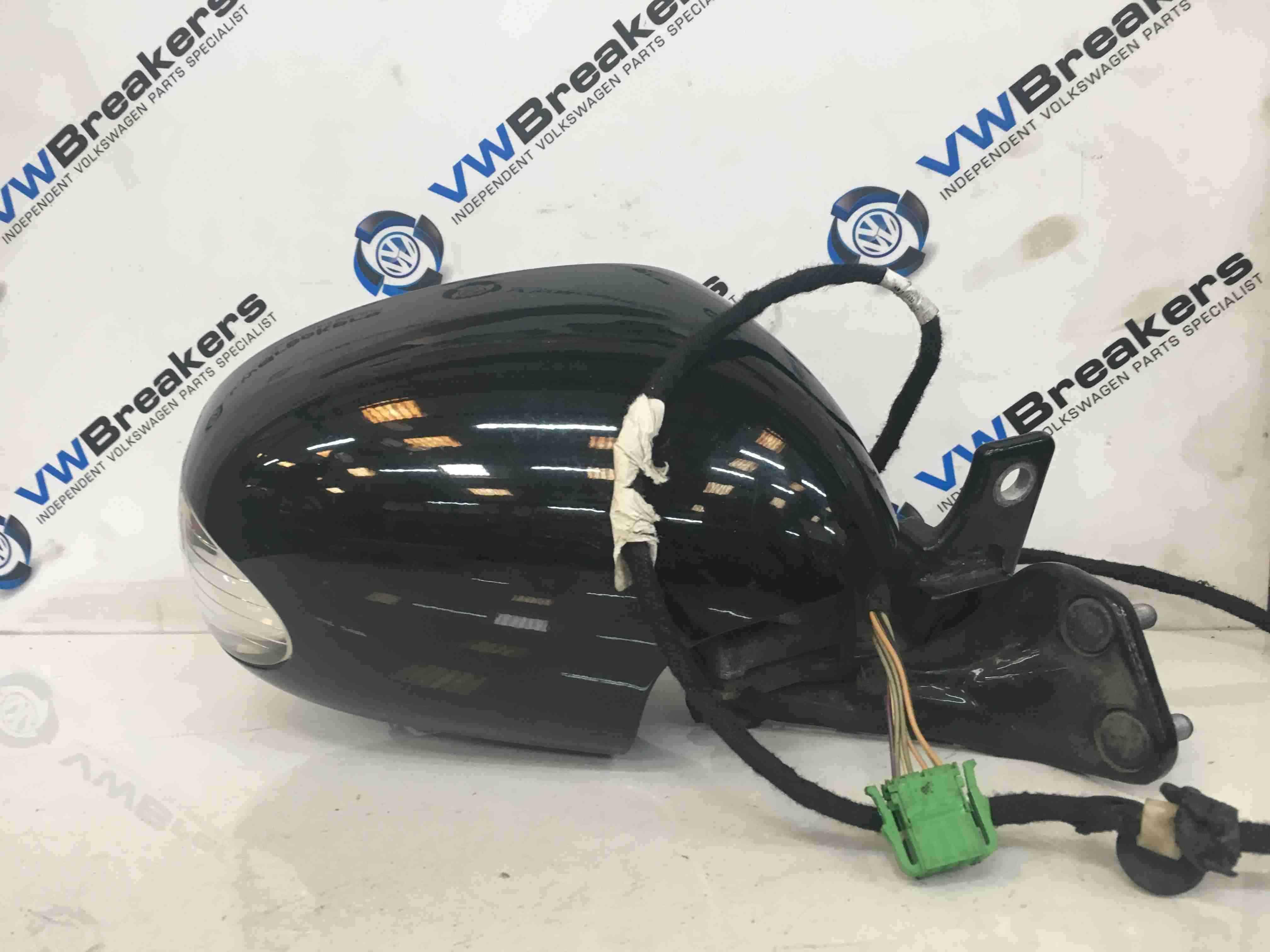 Volkswagen Beetle 2006-2011 Drivers OS Wing Mirror Black L041