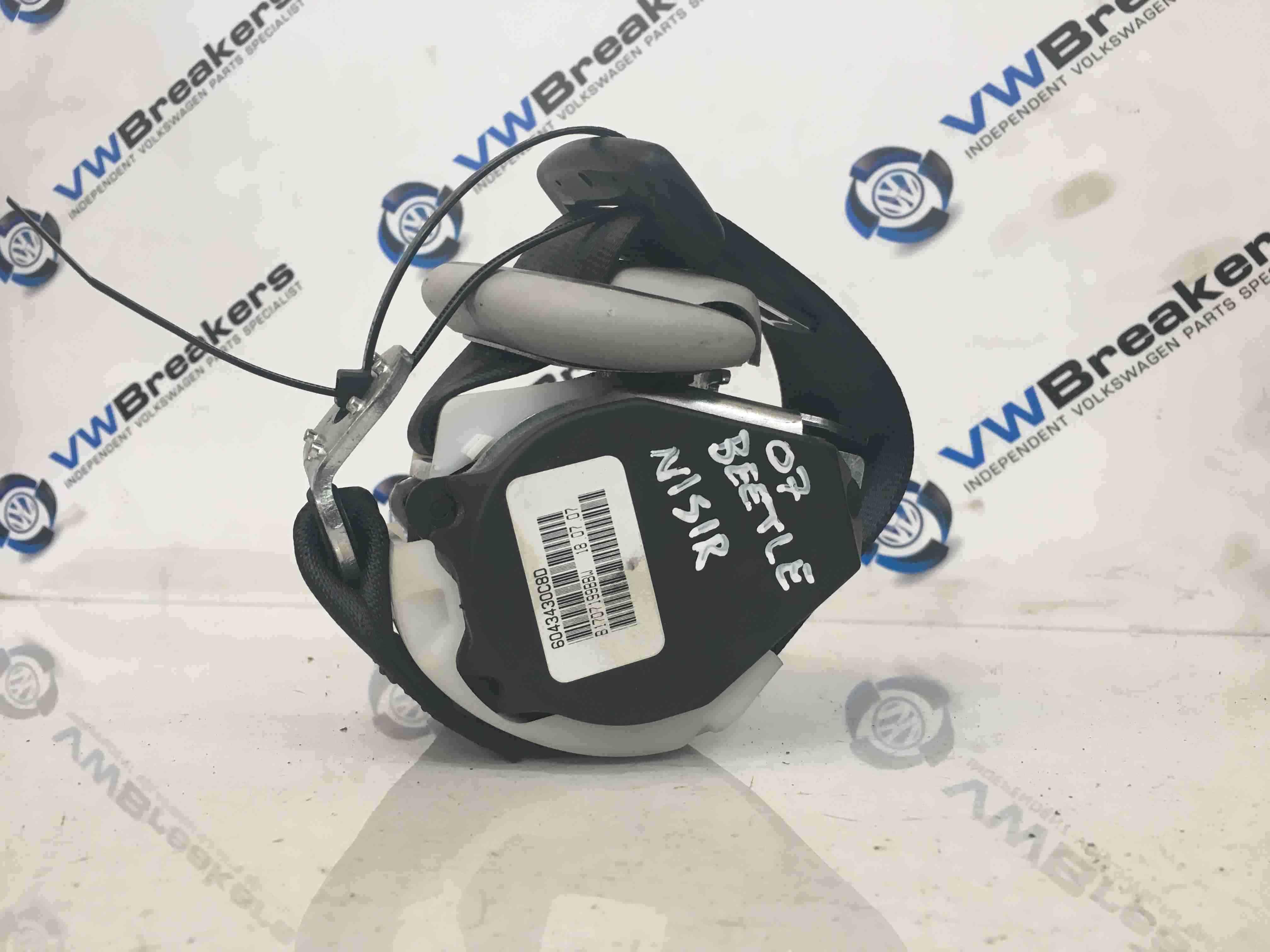 Volkswagen Beetle 2006-2011 Passenger NSR Rear Seat Belt 604091601A