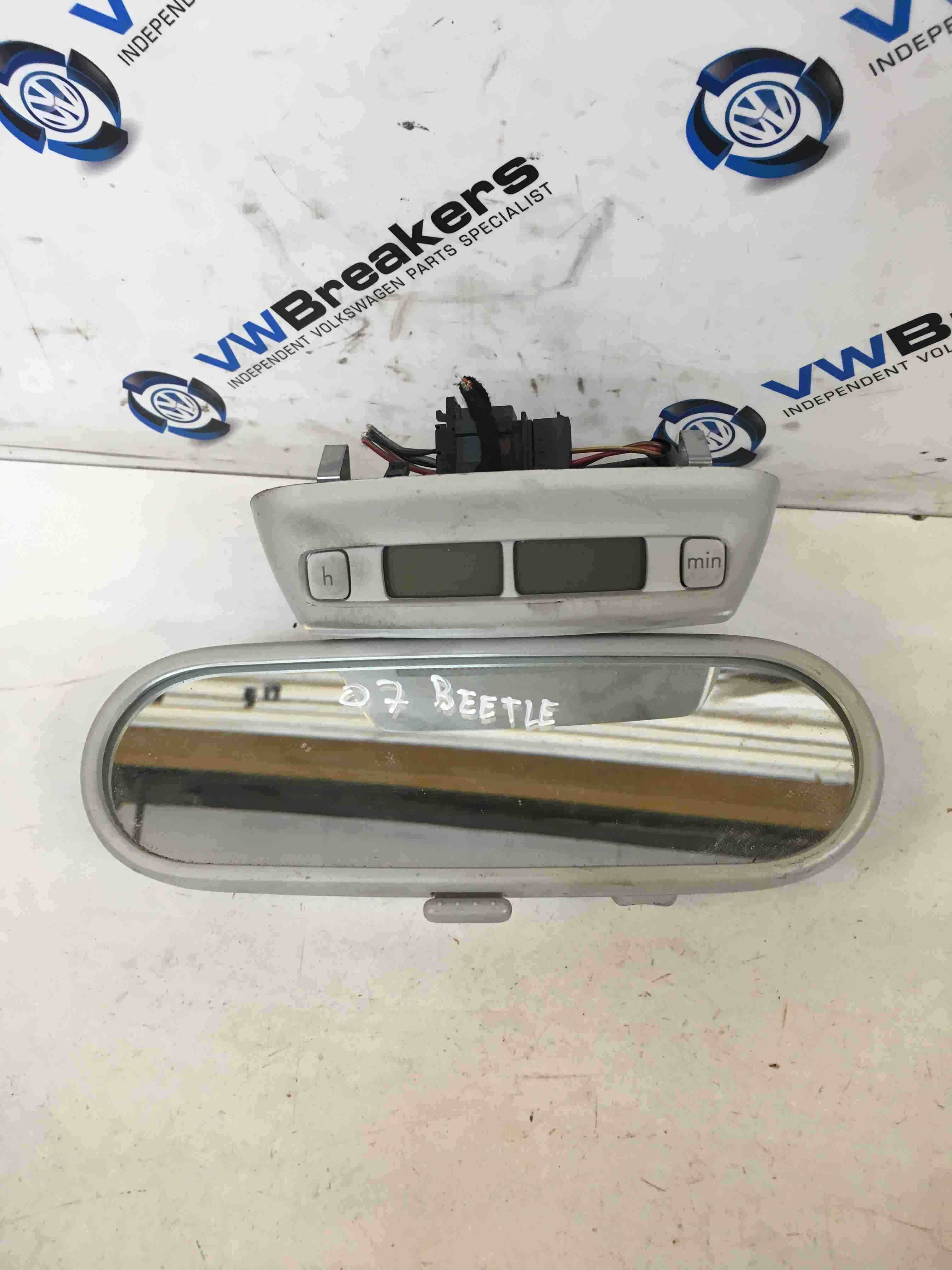 Volkswagen Beetle 2006-2011 Rear View Mirror + Clock 1C0857511BRY20
