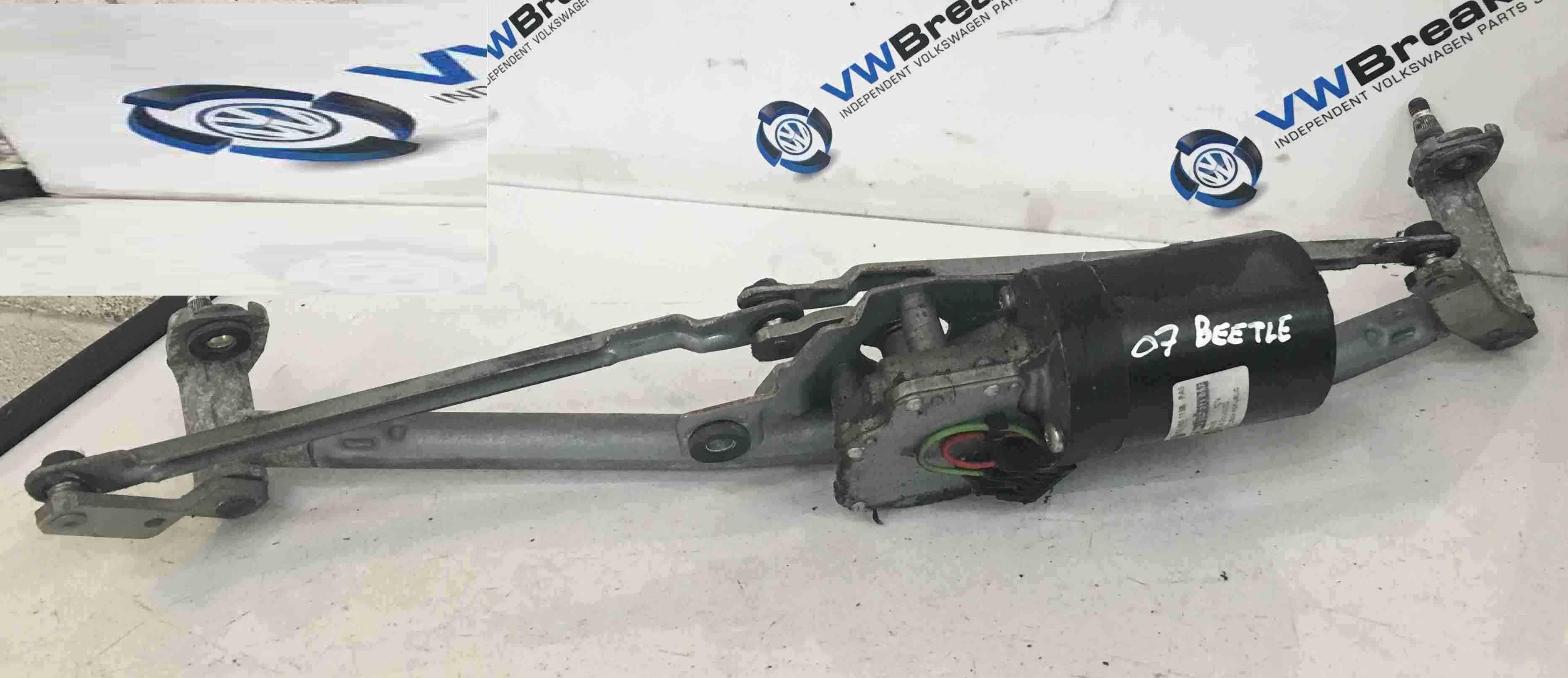Volkswagen Beetle 2006-2011 Windscreen Wiper Motor + Linkage 1C2955113B