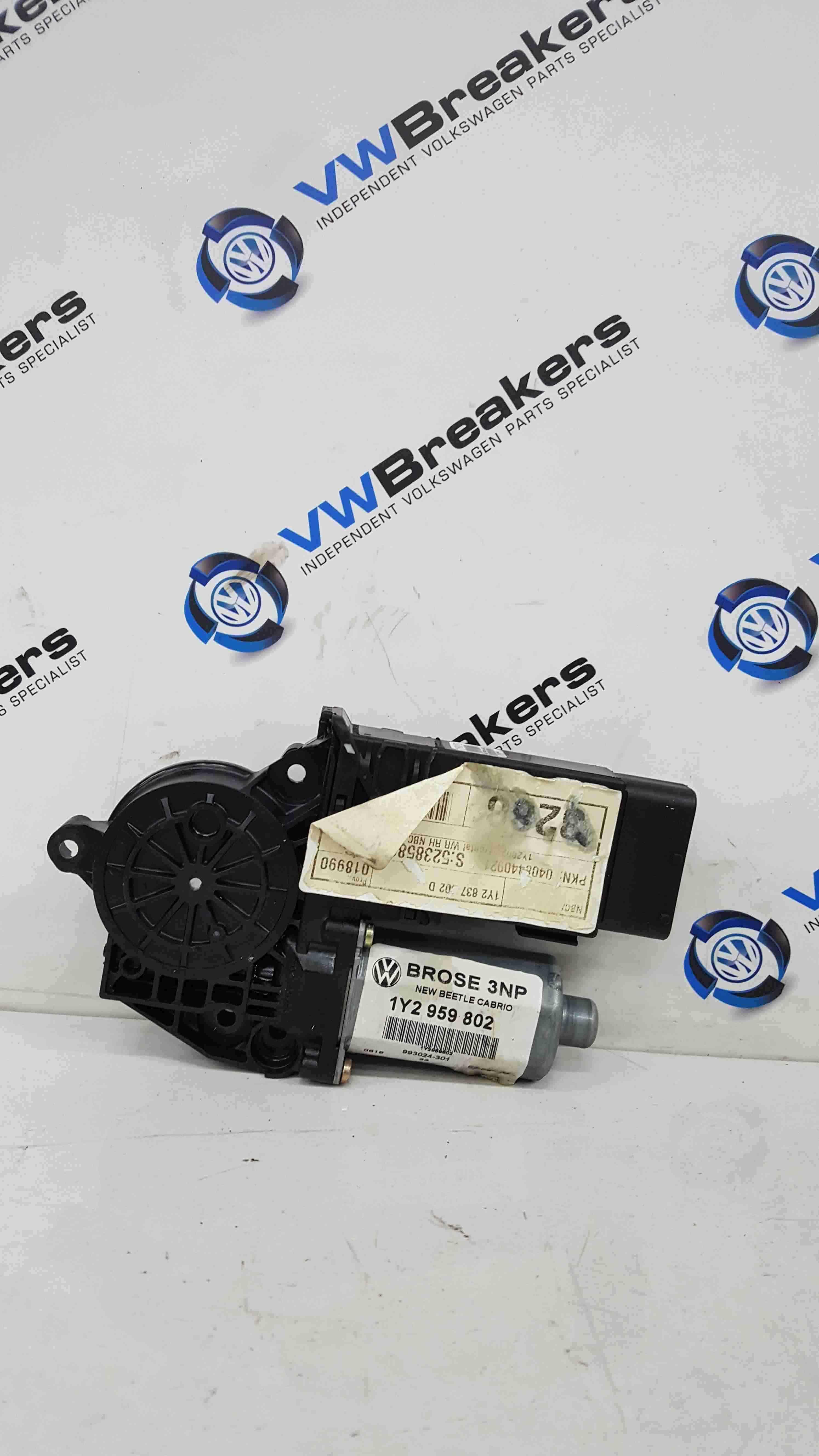 Volkswagen Beetle Convertible 2002-2011 Drivers OSF Front Window Motor 1Y2959802