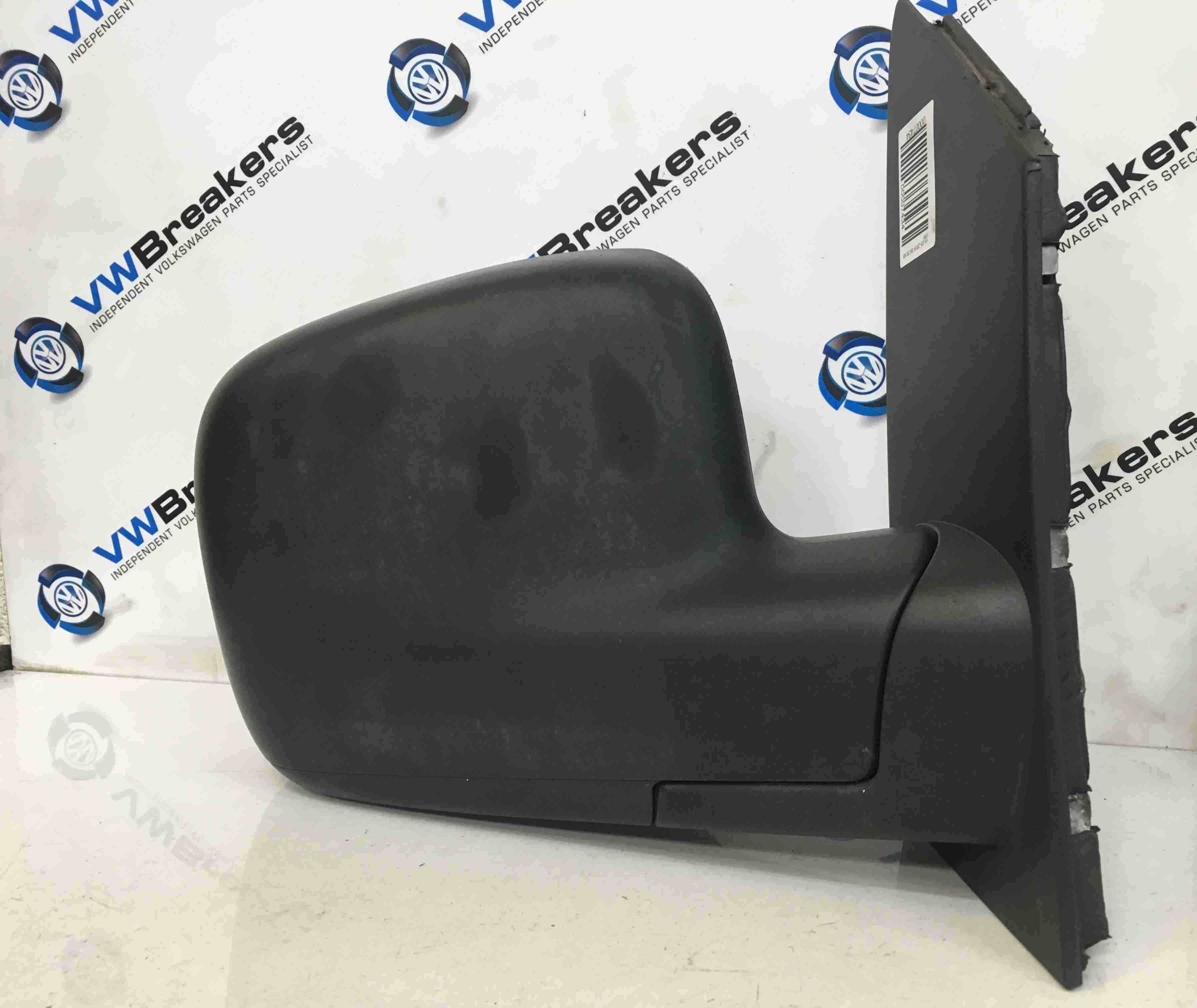 Volkswagen Caddy 2004-2010 Drivers OSF Wing Mirror Plain Black