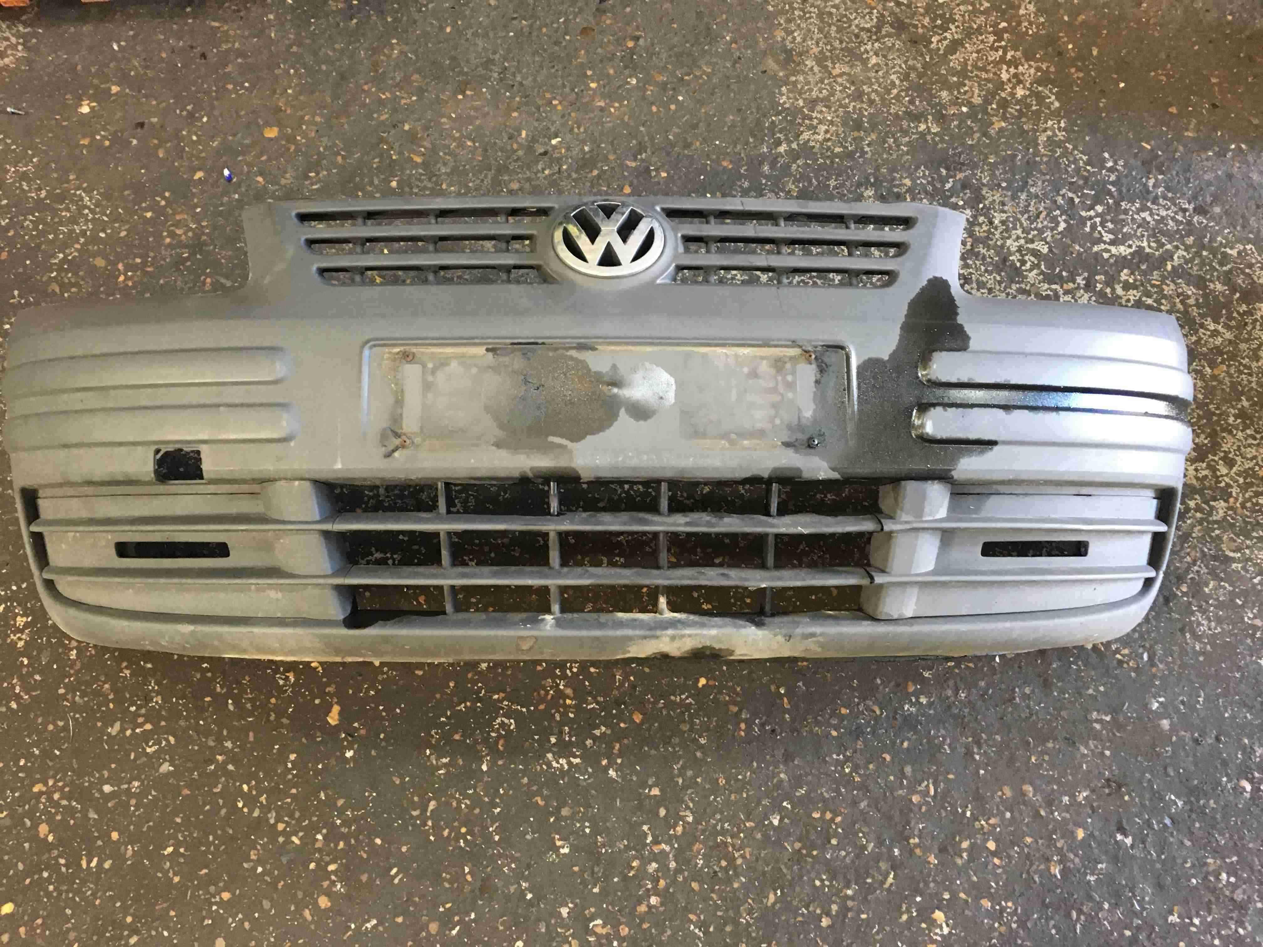 Volkswagen Caddy 2004-2010 Front Bumper Plain Black