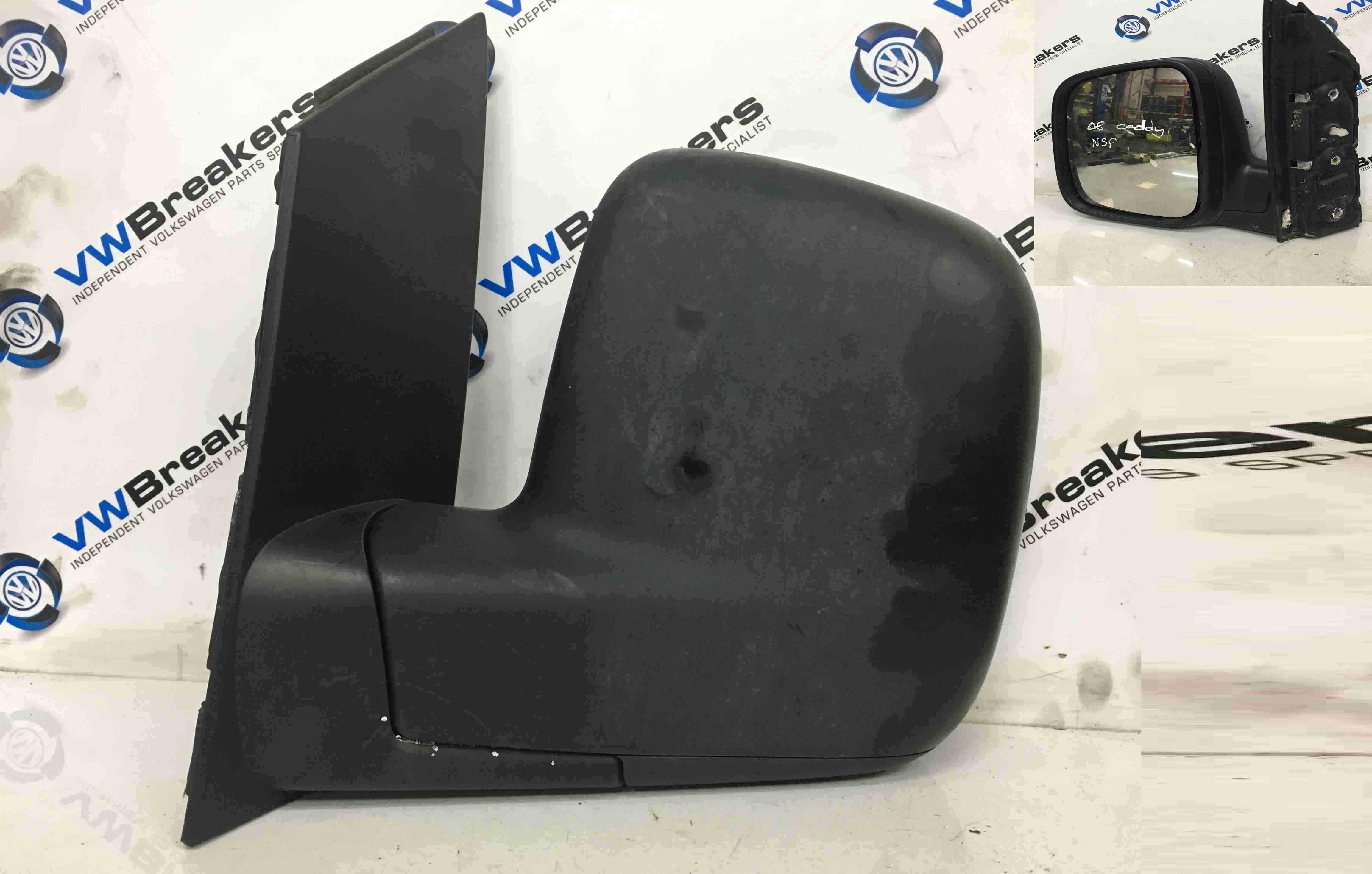 Volkswagen Caddy 2004-2010 Passenger NS Wing Mirror Plain Black