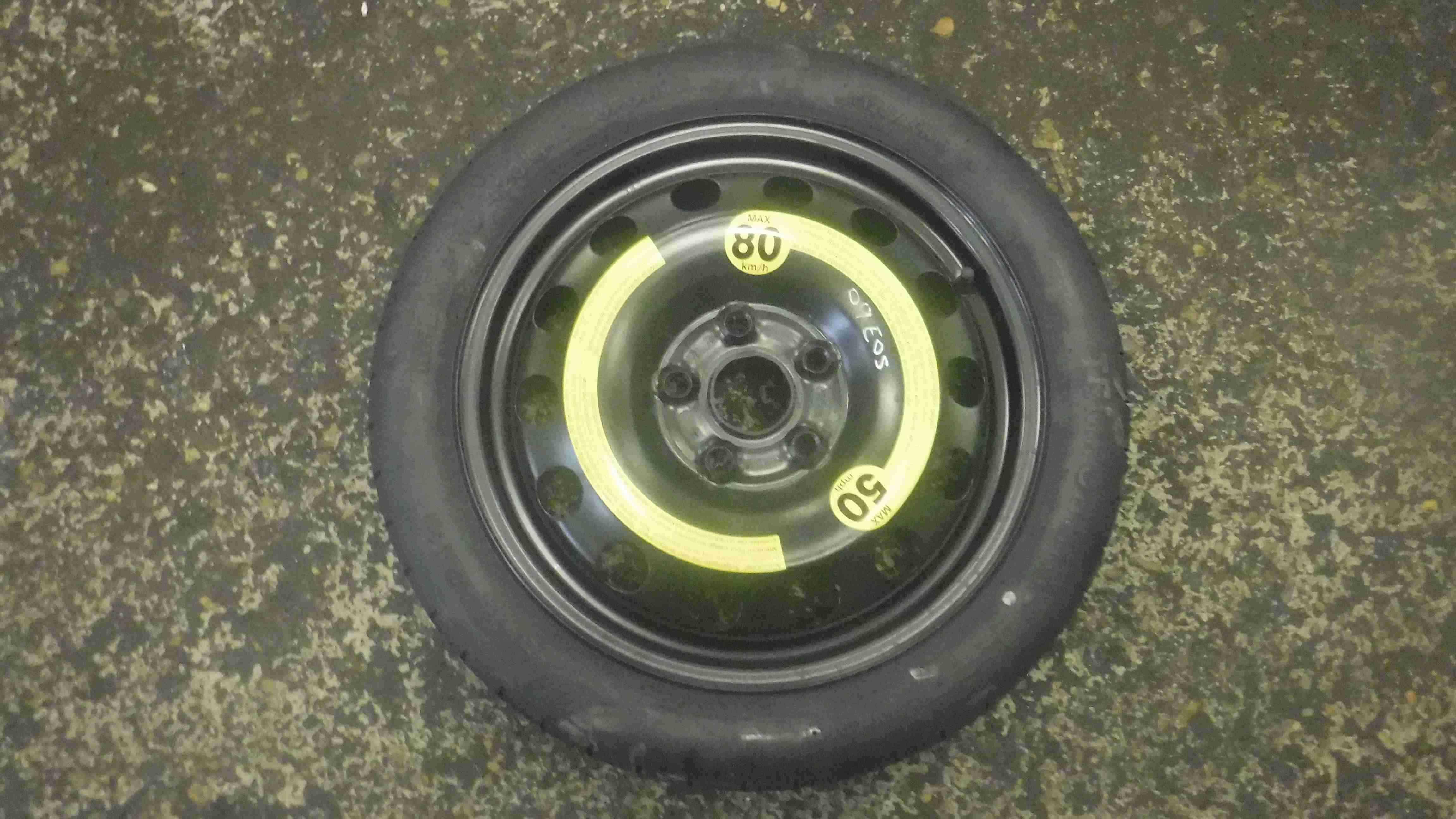 Volkswagen EOS 2005-2016 Space Saver Spare Wheel 16inch 1K0601027F