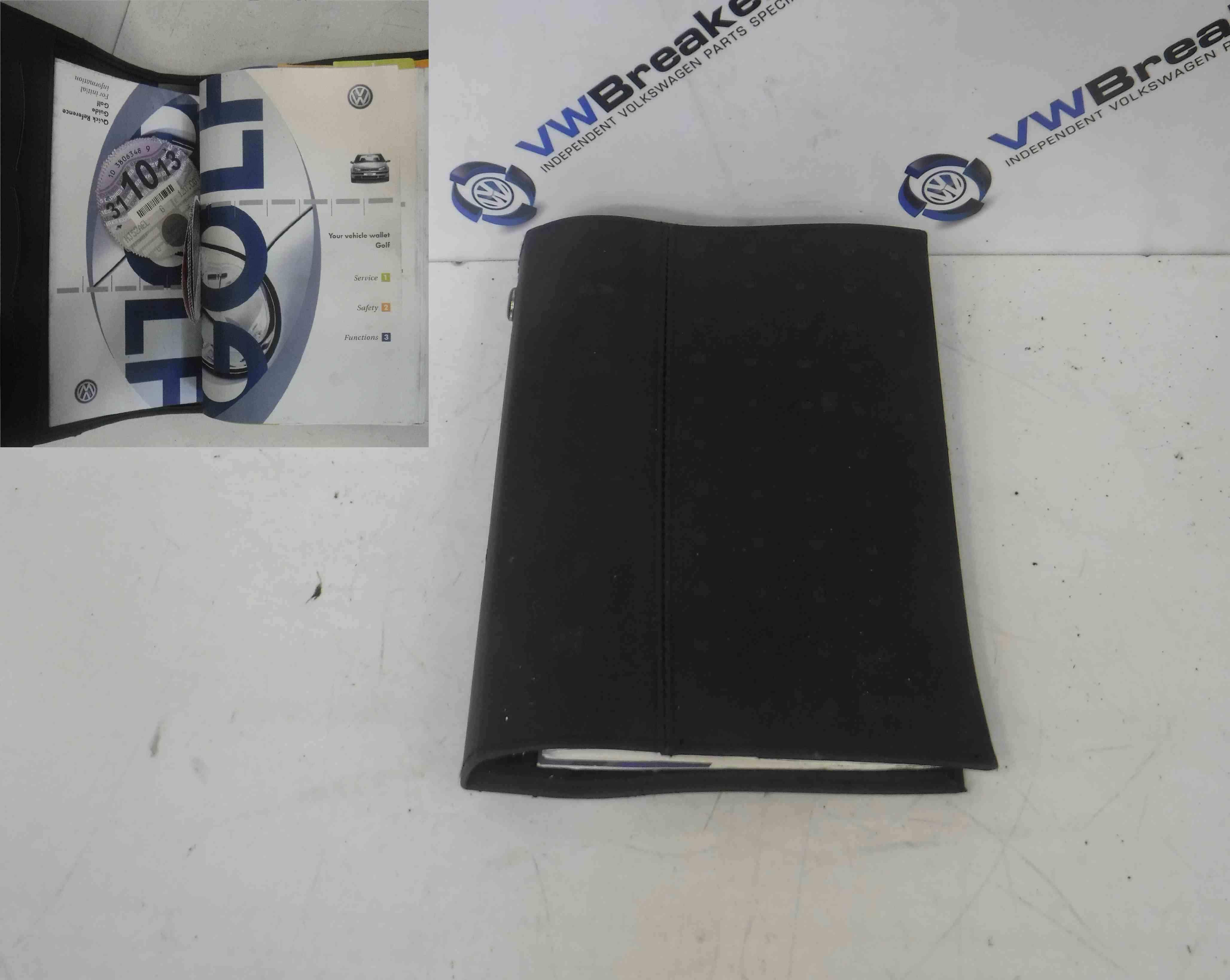 Volkswagen Golf MK4 1997-2004 Handbook Functions Service Safety + Wallet