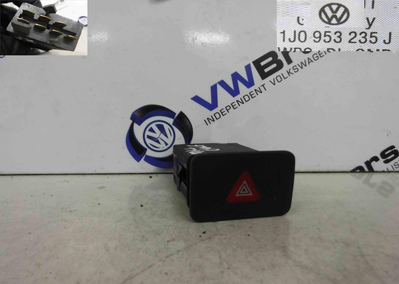 Volkswagen Golf MK4 1997-2004 Hazard Warning Switch 1J0953235J