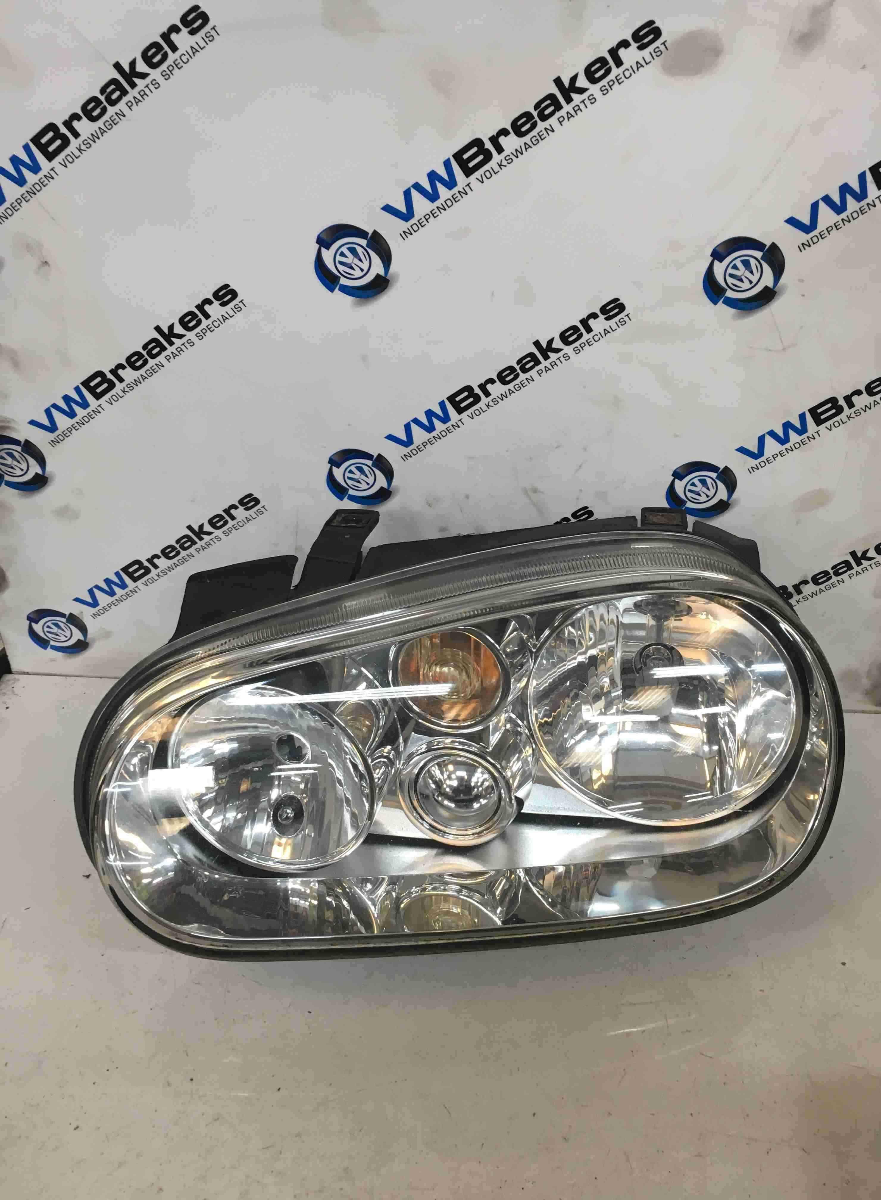 Volkswagen Golf MK4 1997-2004 Passenger NSF Front Headlight No Fog 1J2941015A