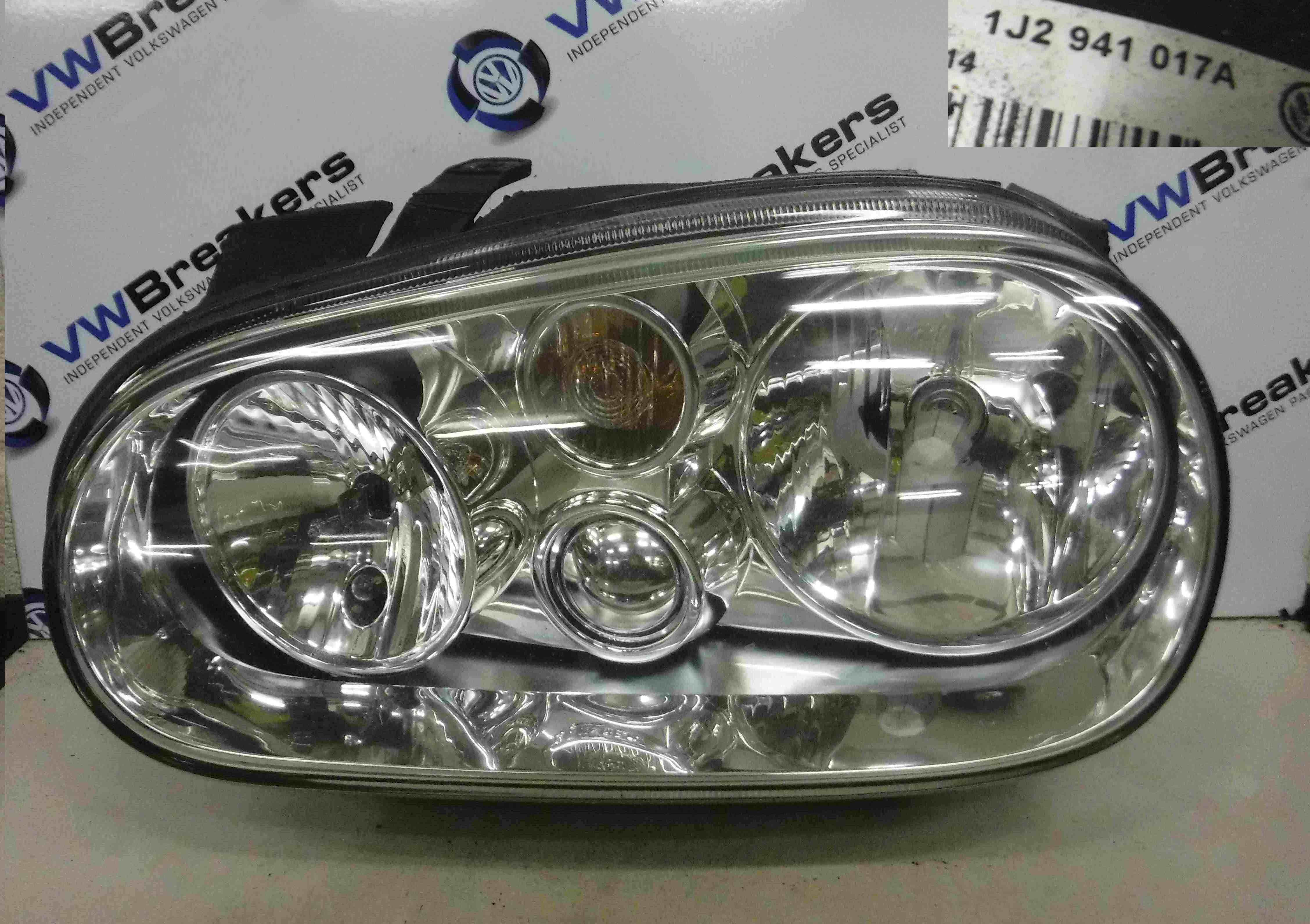 Volkswagen Golf MK4 1997-2004 Passenger NSF Front Headlight No fog