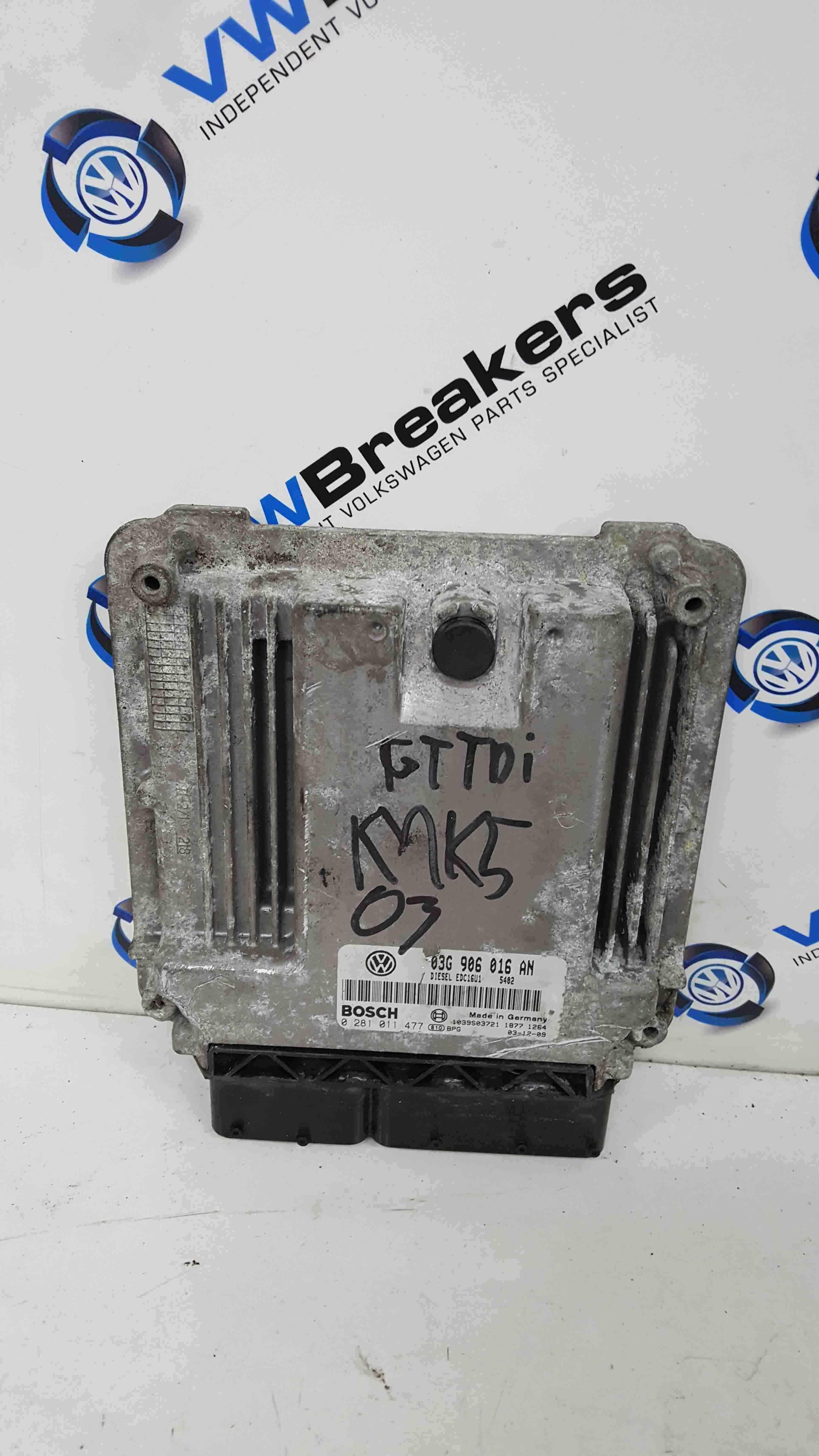Volkswagen Golf MK5 2003-2009 2.0 TDi Engine Control Unit ECU BKD 03G906016AN