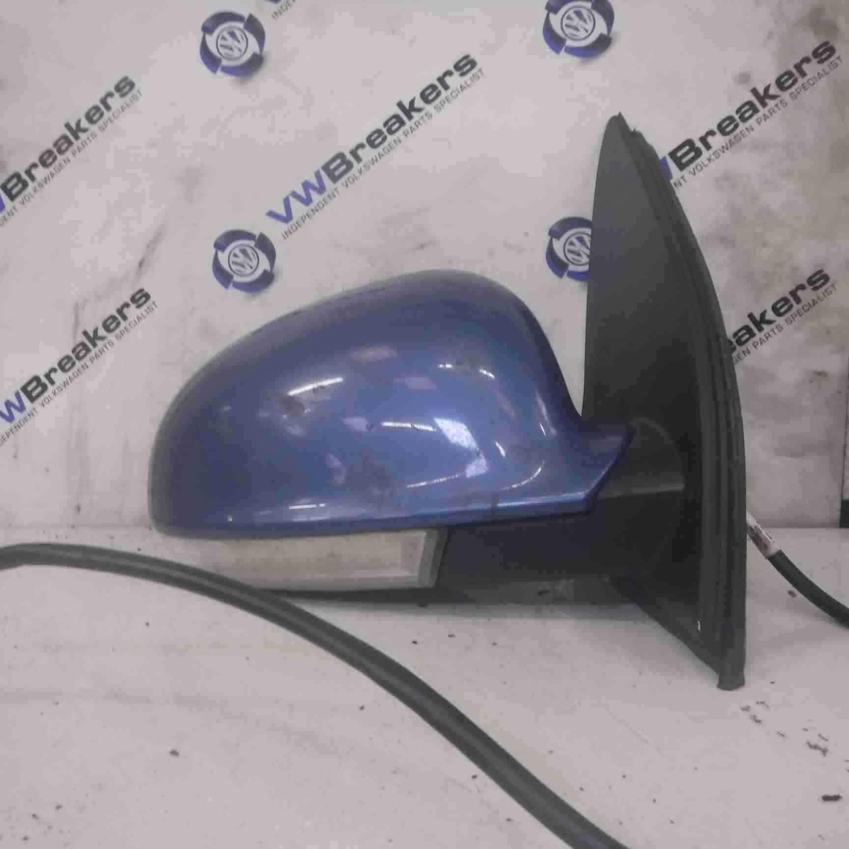 Volkswagen Golf MK5 2003-2009 Drivers OS Wing Mirror Blue LC5G