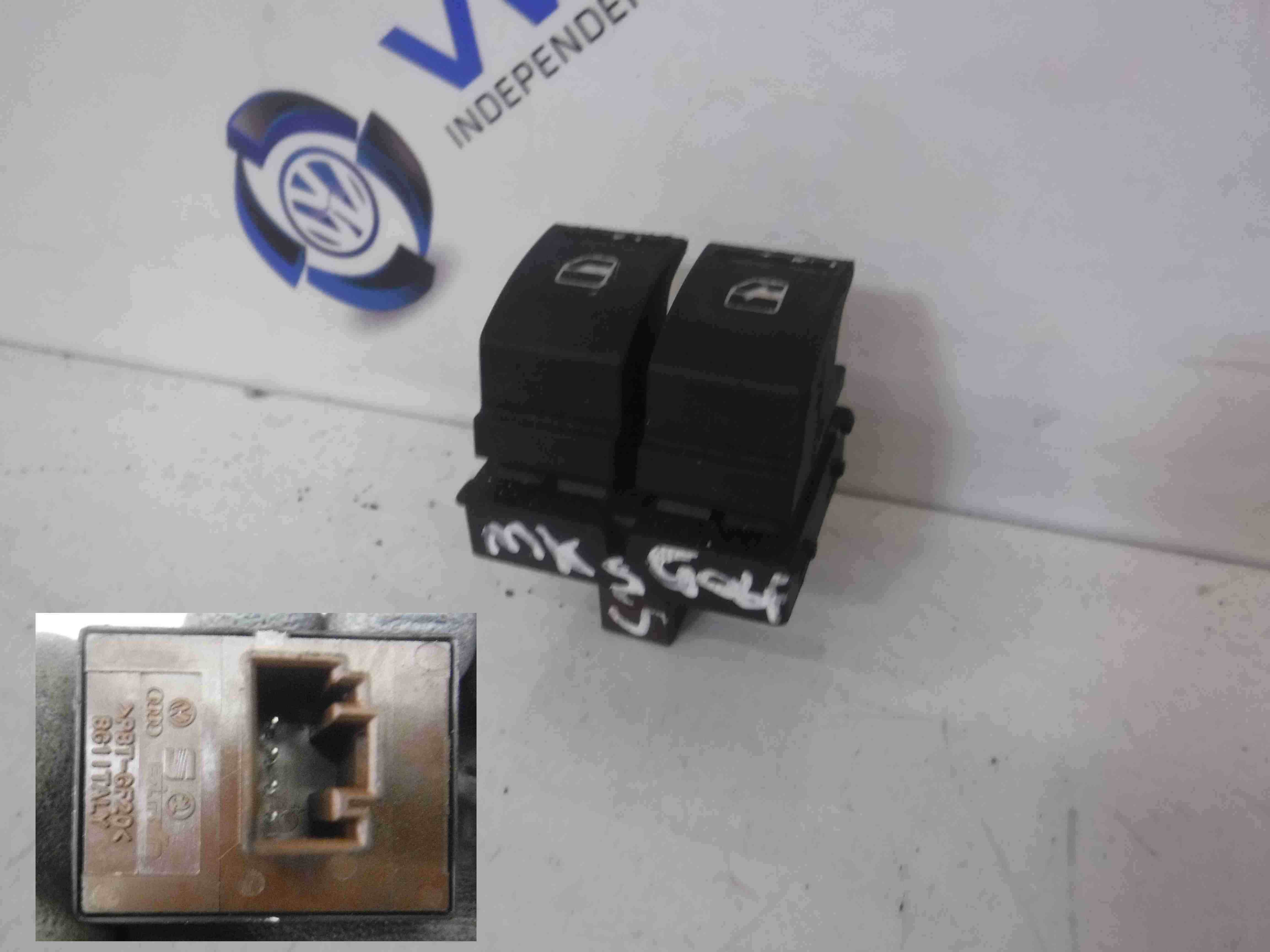 Volkswagen Golf MK5 2003-2009 Drivers OSF Front Dual Window Switch 1K3959857A