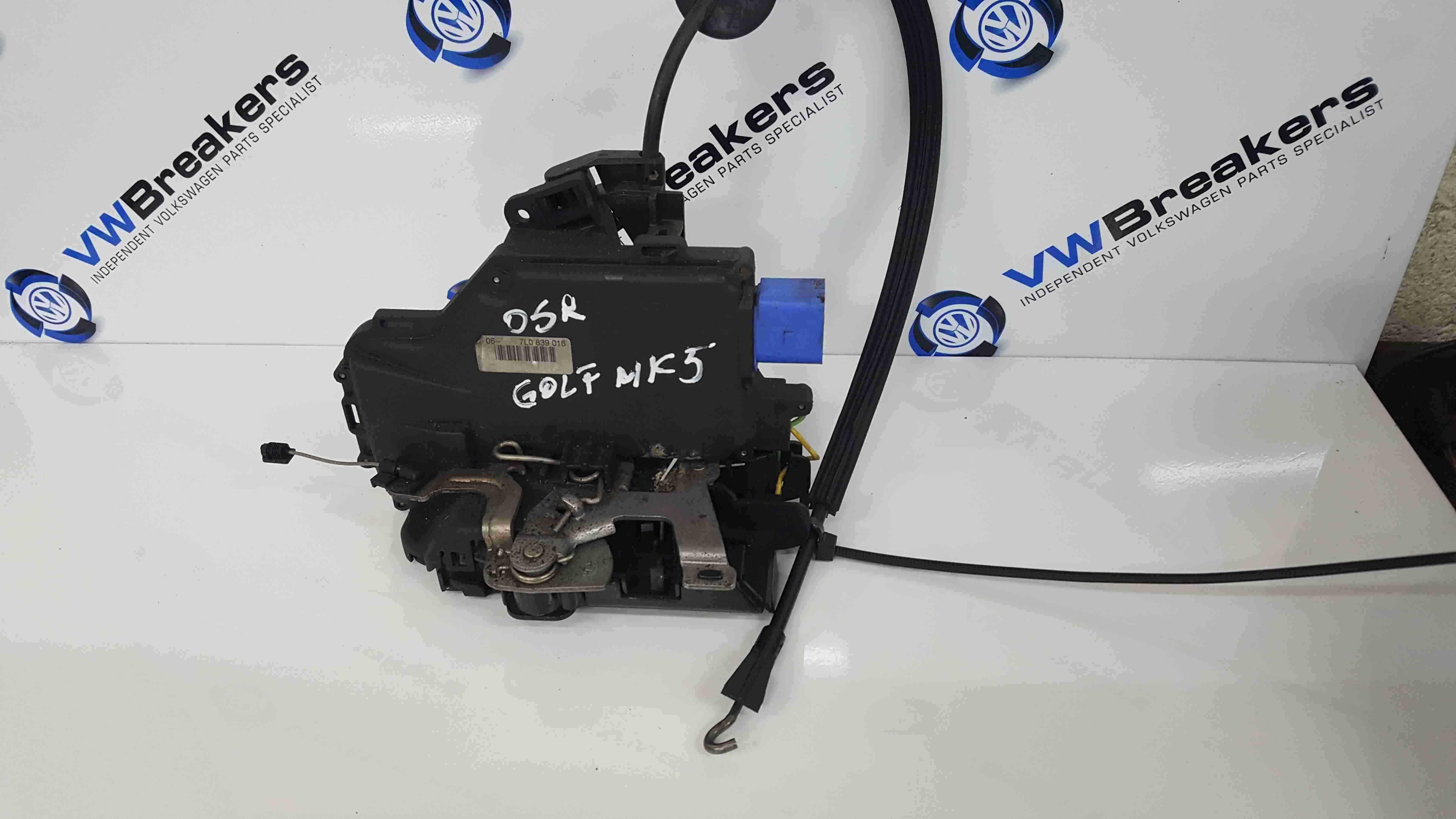 Volkswagen Golf MK5 2003-2009 Drivers OSR Rear Door Lock Mechanism 7L0839016