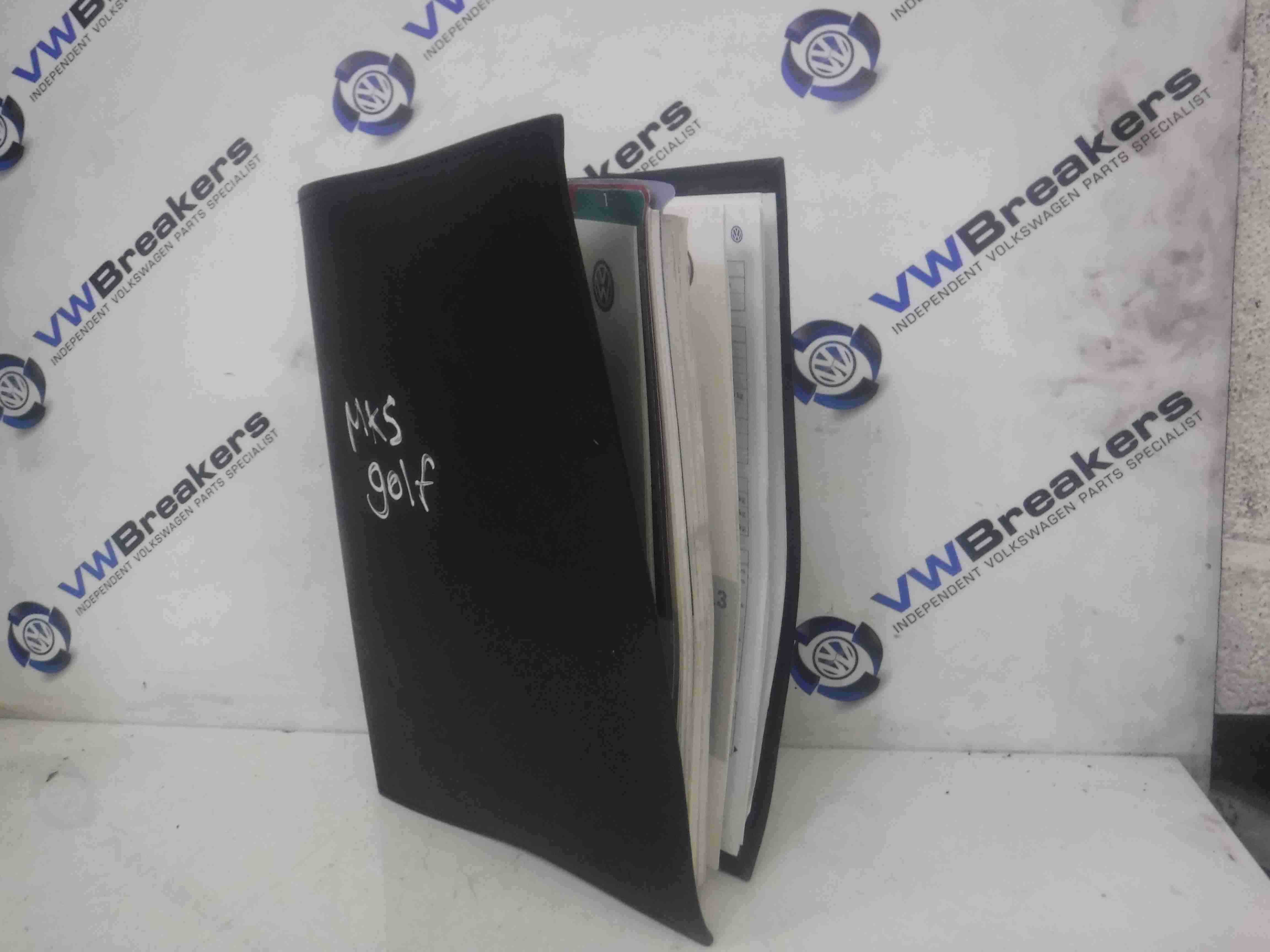 Volkswagen Golf MK5 2003-2009 Handbook Document Holder Folder