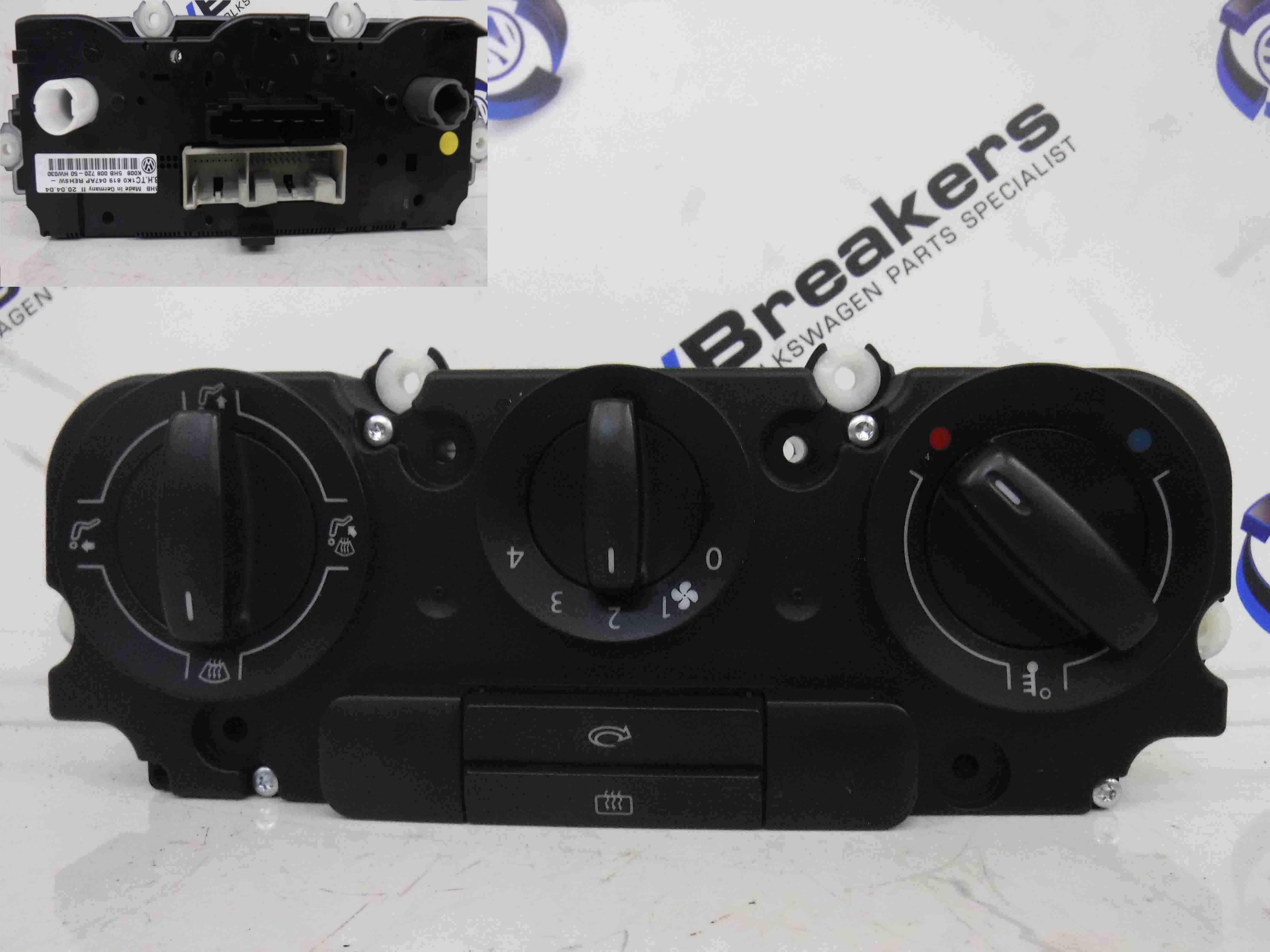 Volkswagen Golf MK5 2003-2009 Heater Controls Switches 1K0819047AP