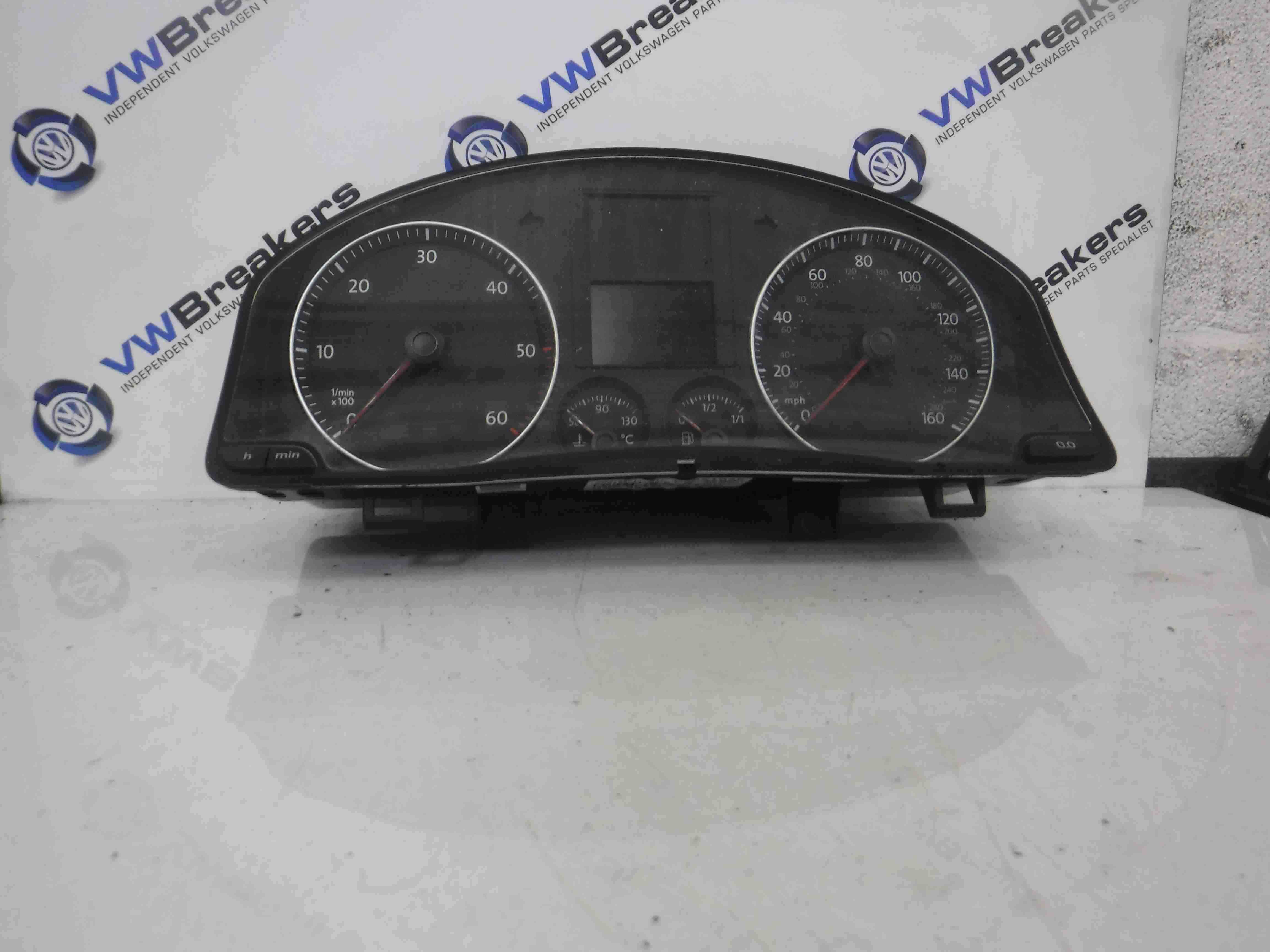 Volkswagen Golf MK5 2003-2009 Instrument Panel Clocks Cluster Gauges 186K