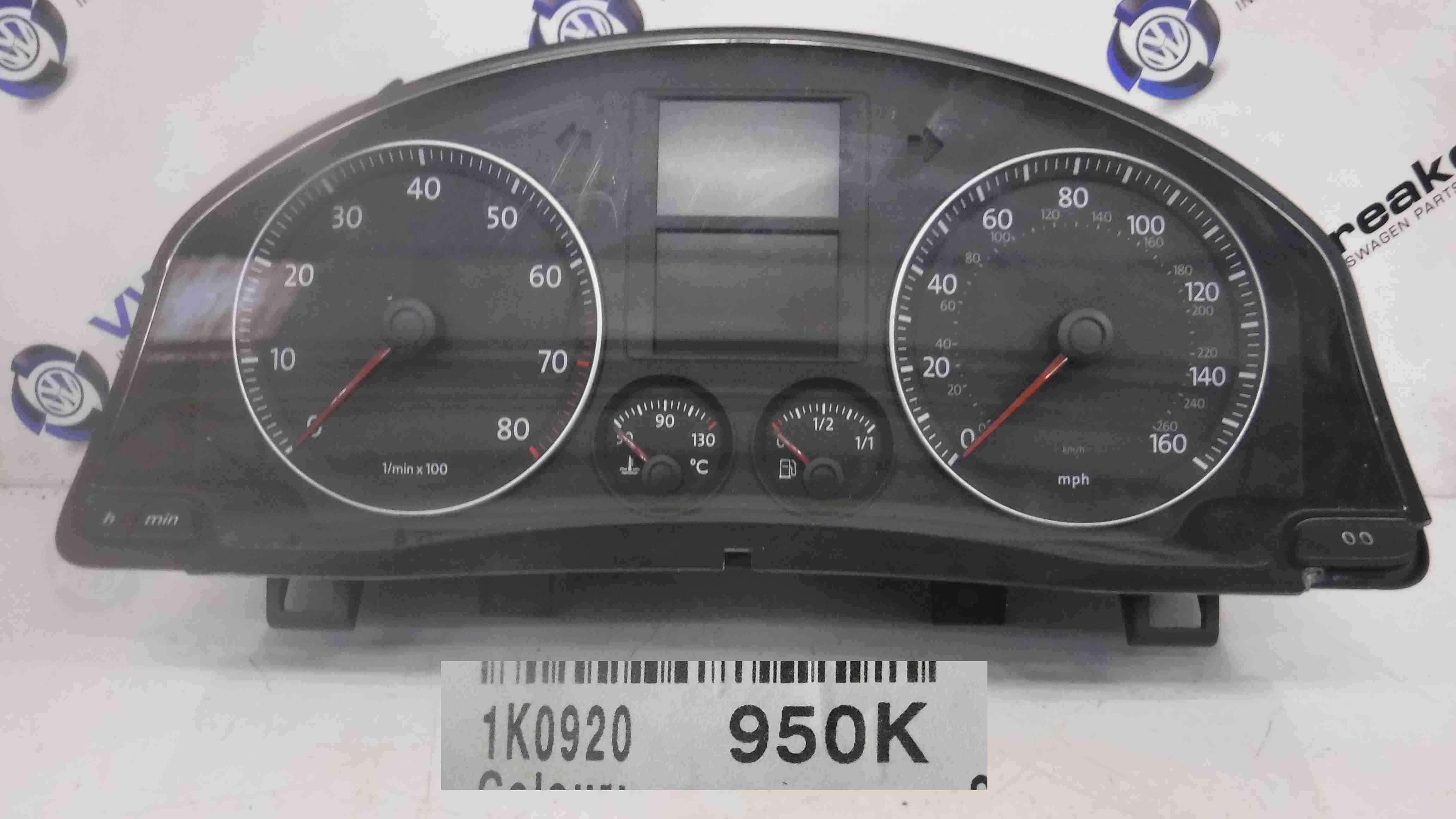 Volkswagen Golf MK5 2003-2009 Instrument Panel Dials Clocks Gauges 140k