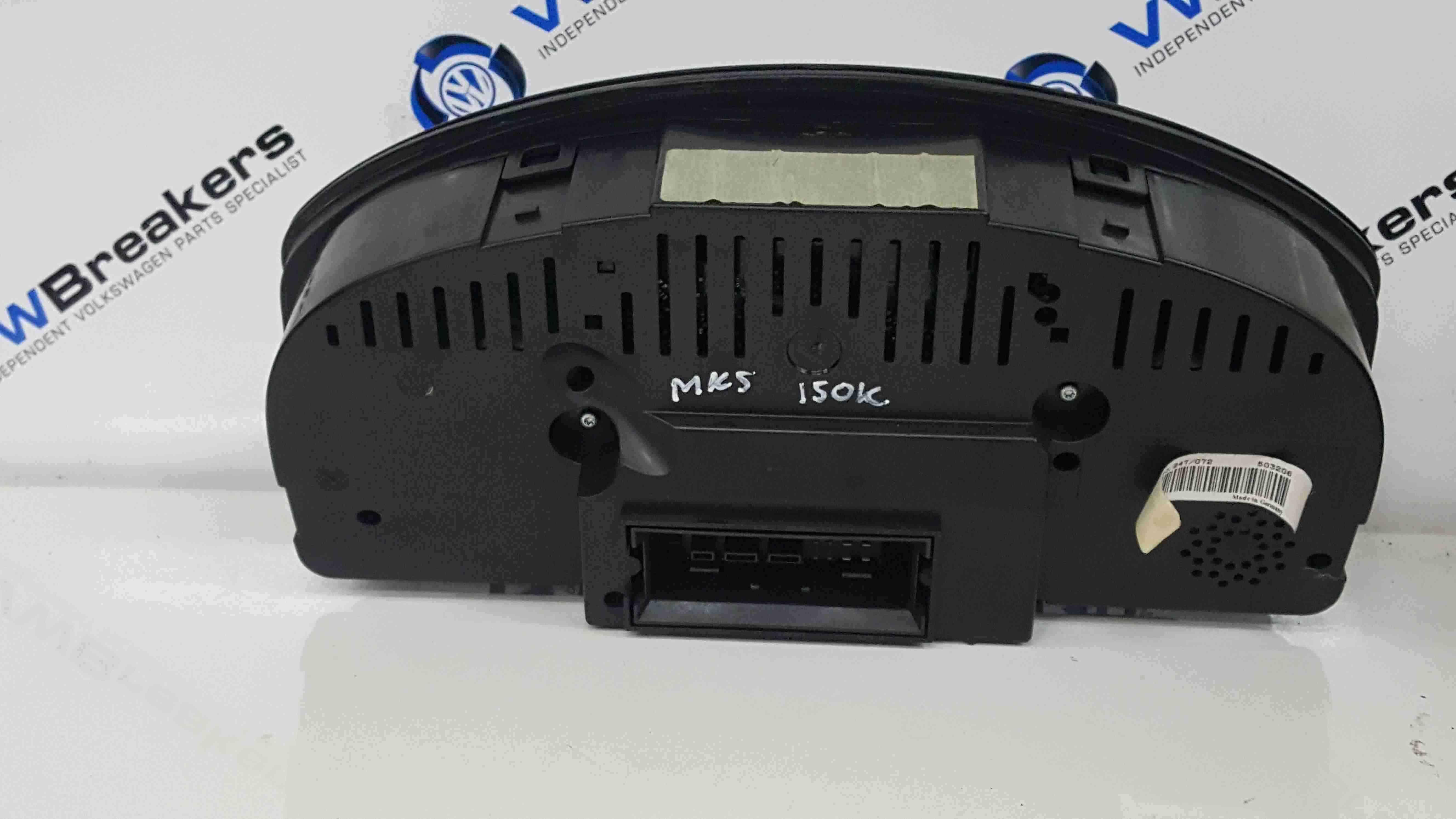 Volkswagen Golf MK5 2003-2009 Instrument Panel Dials Gauges Clocks 150K