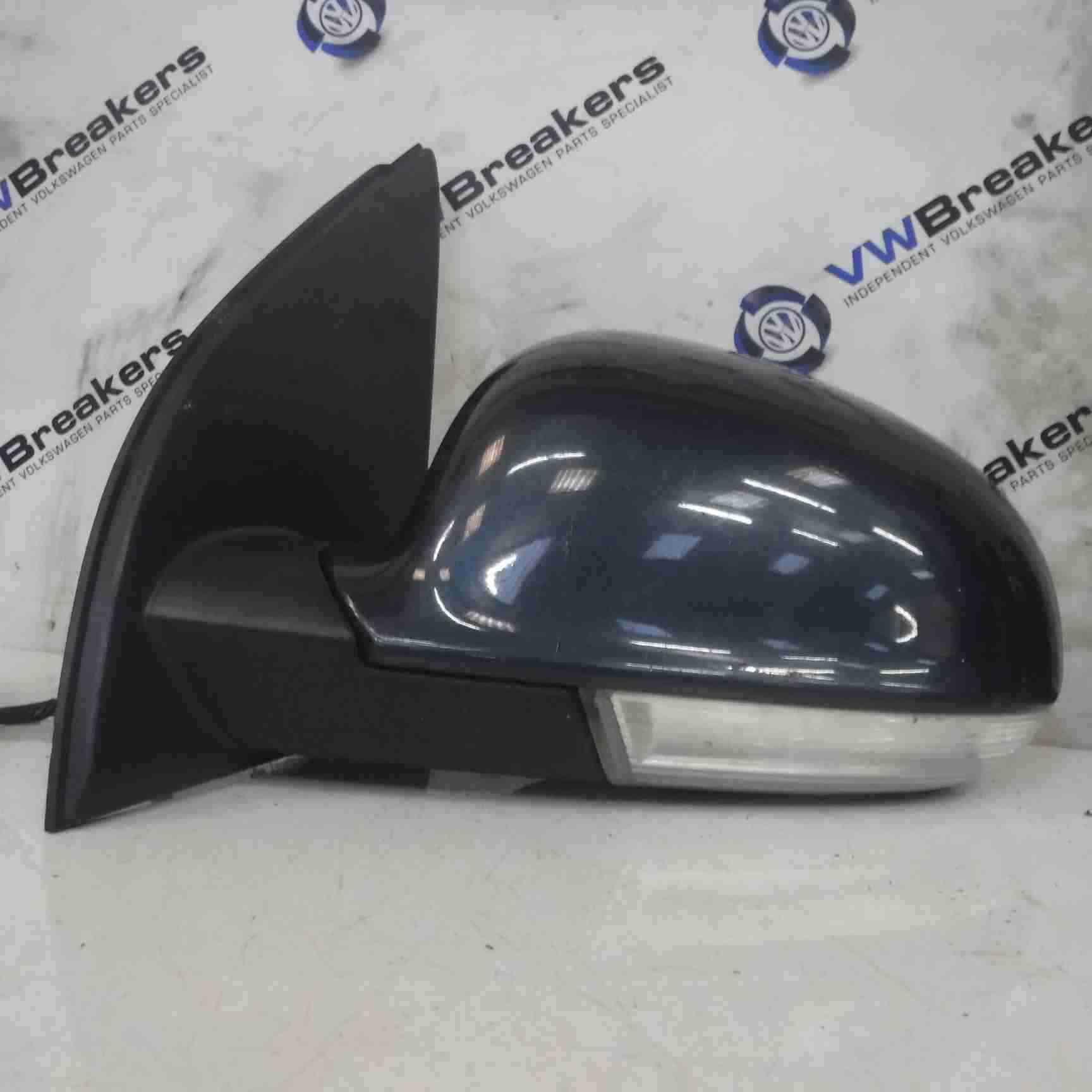 Volkswagen Golf MK5 2003-2009 Passenger NS Wing Mirror Graphite Blue Grey LC5F