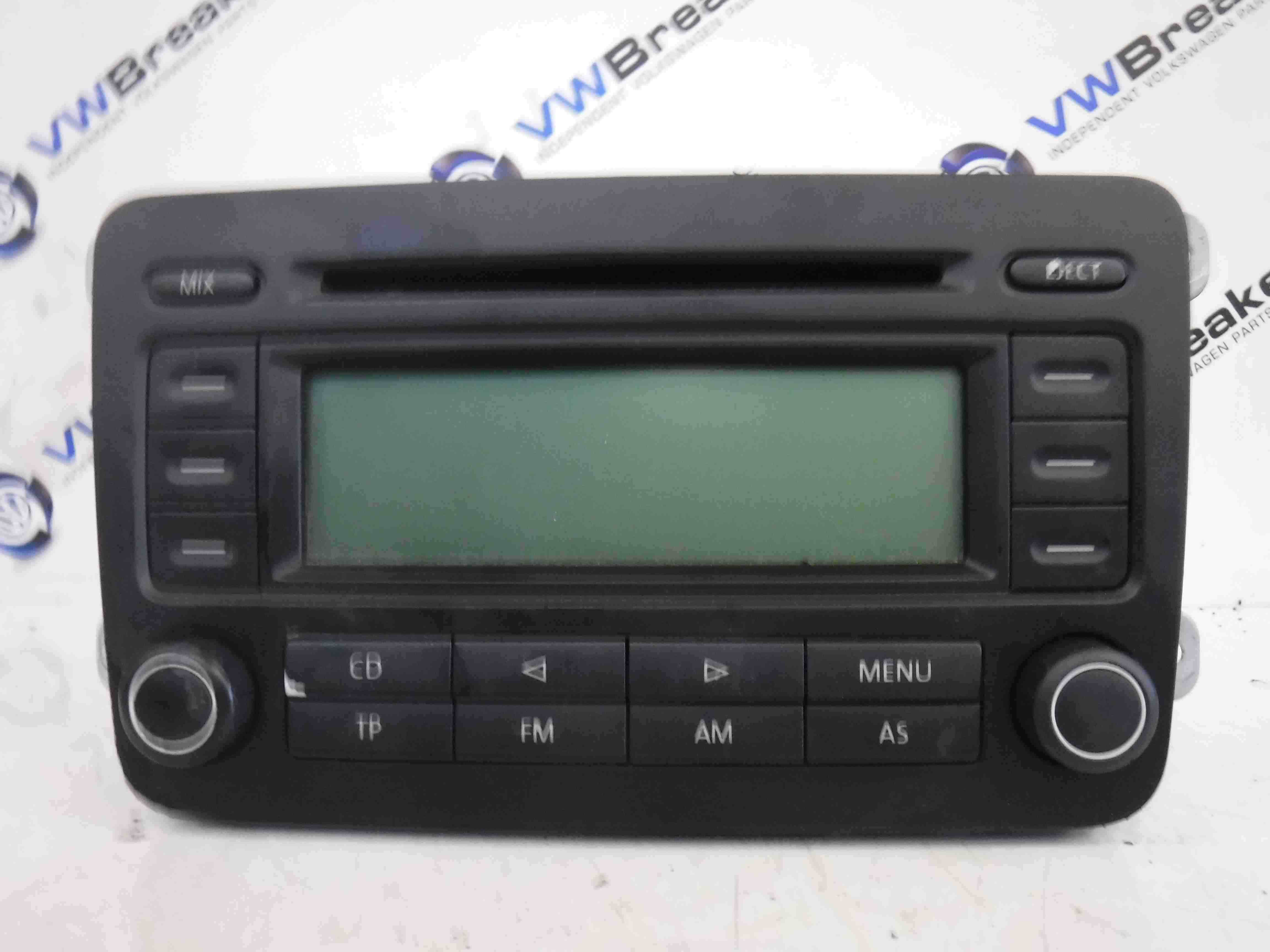 Volkswagen Golf MK5 2003-2009 Radio Cd Player Head Unit 1k0035186J 1K0035186G