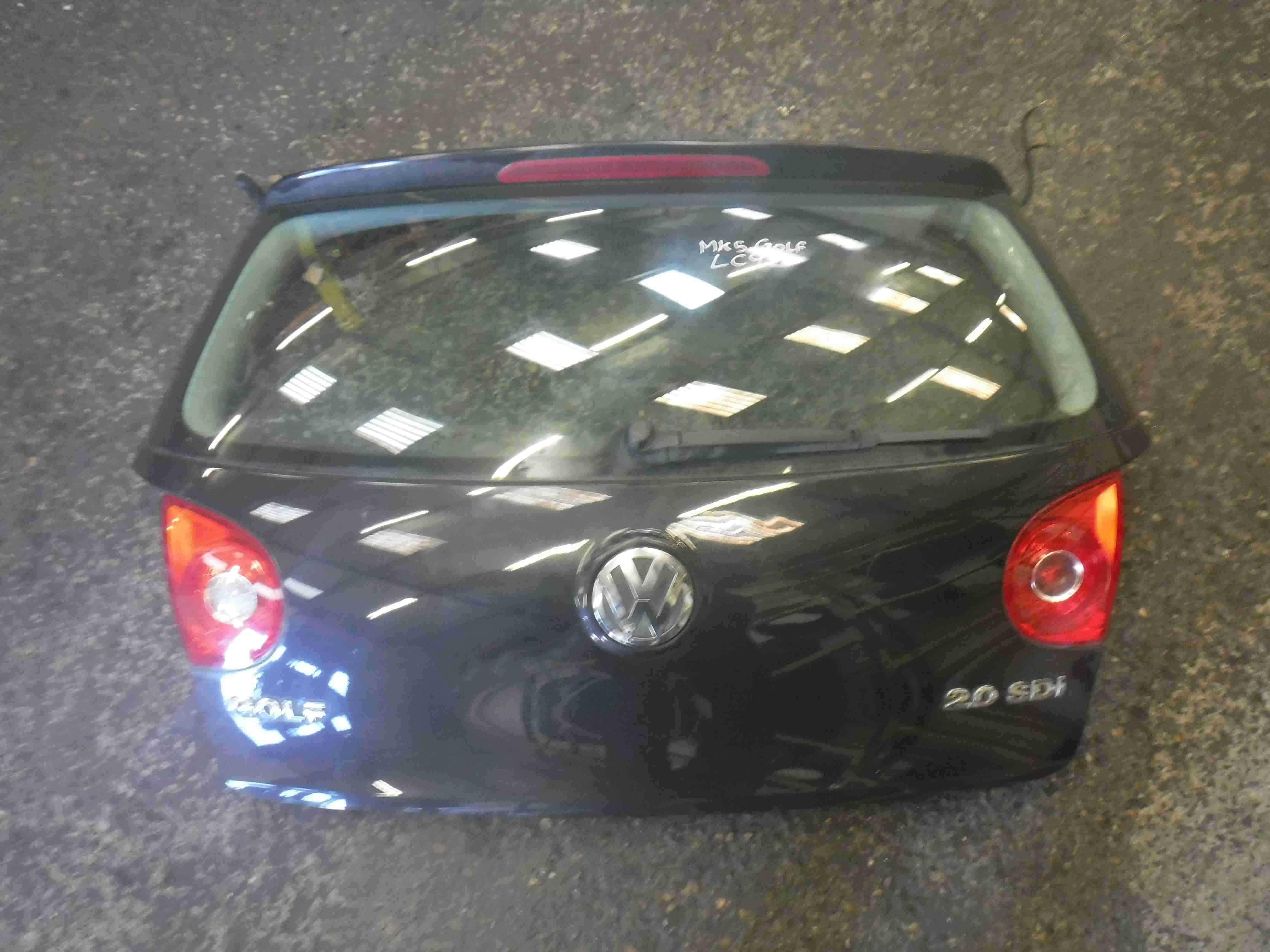 Volkswagen Golf MK5 2003-2009 Rear Boot Tailgate Black LC9Z