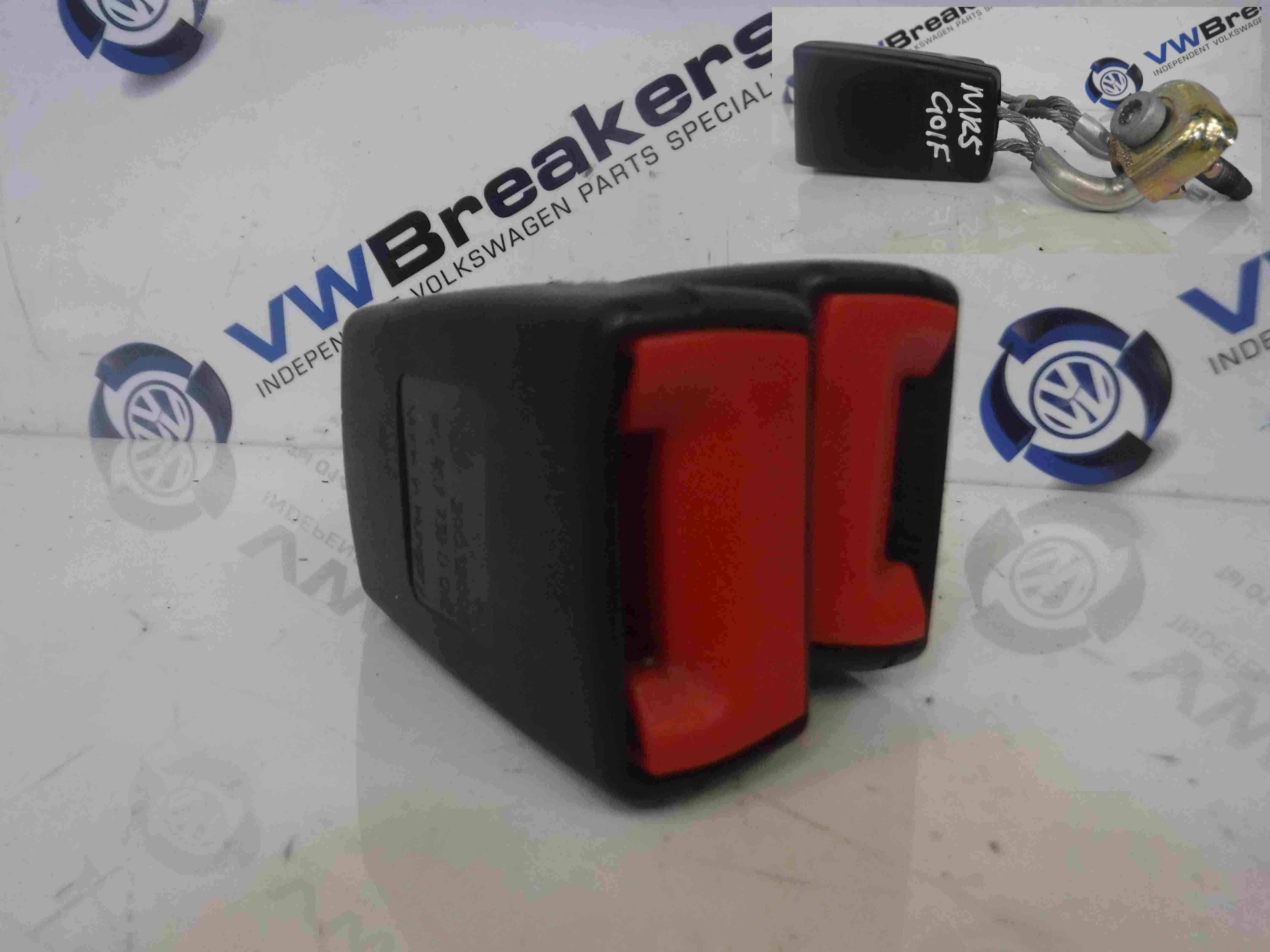 Volkswagen Golf MK5 2003-2009 Rear Seat Belt Buckle Anchor Red 1K0857739D