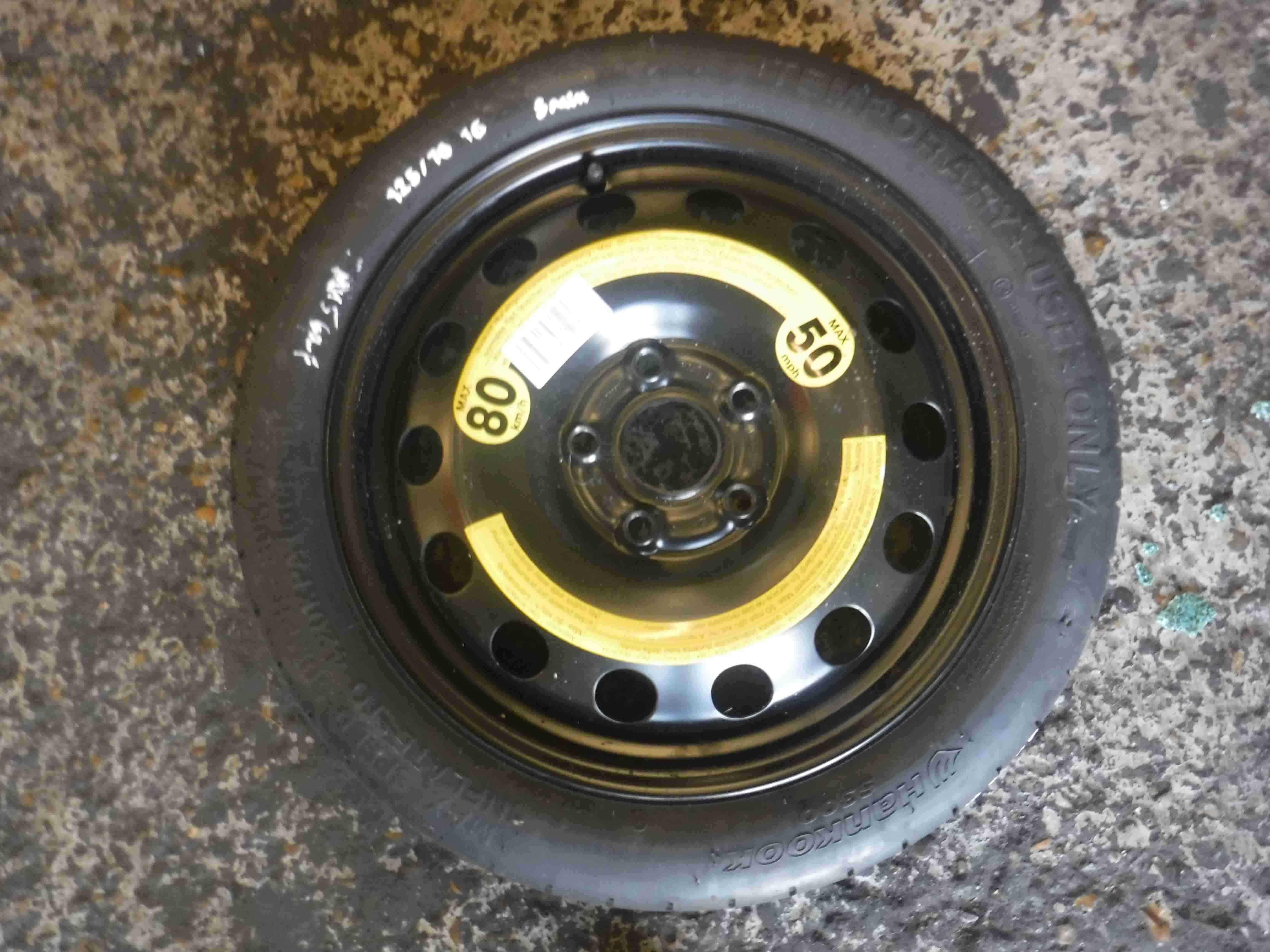Volkswagen Golf MK5 2003-2009 Space Saver Spare Wheel  Tyre 125 70 5/5 16