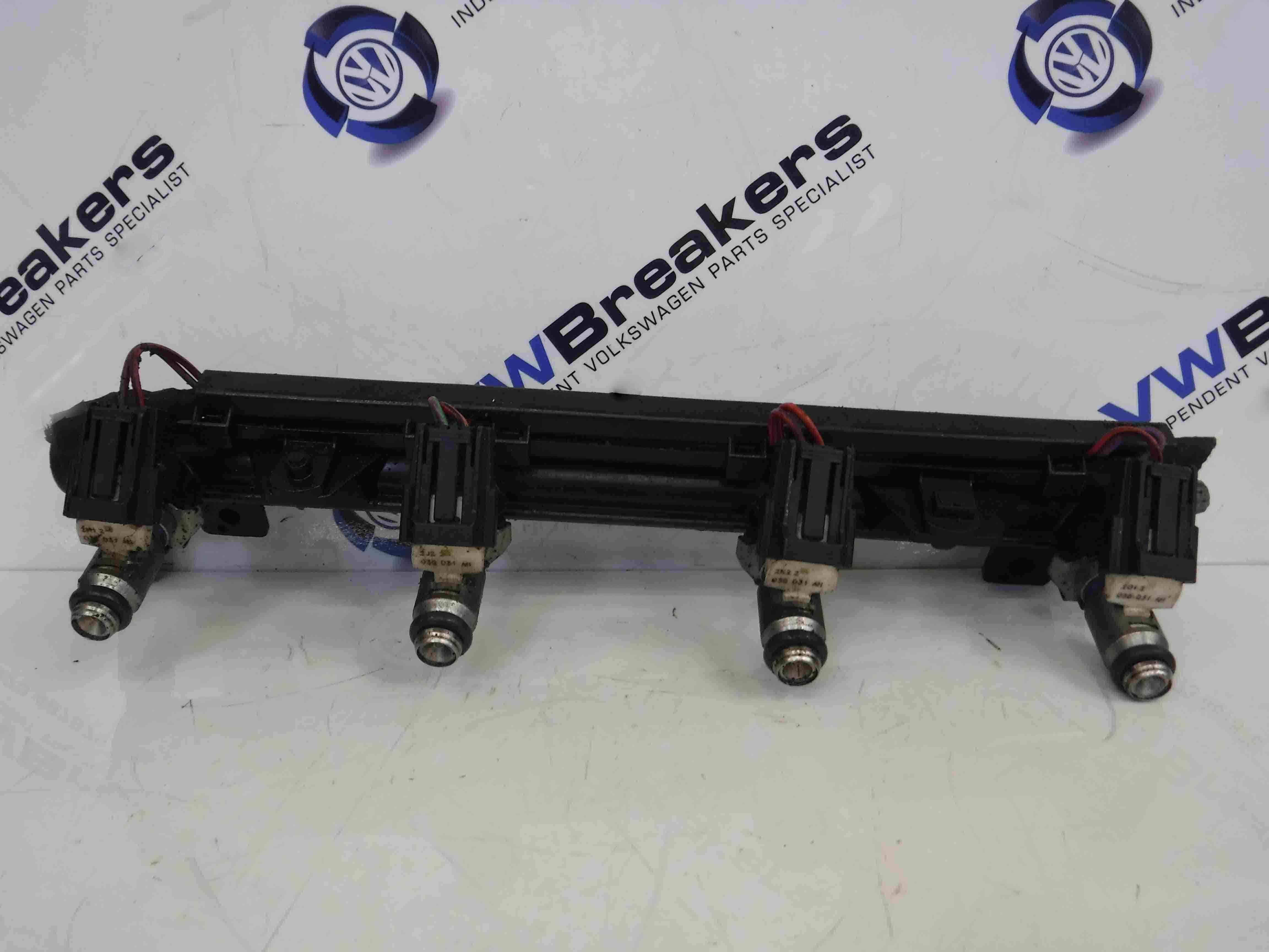 Volkswagen Golf MK6 2009-2012 1.4 16v Fuel Injectors X4 + Rail CGGA cgga