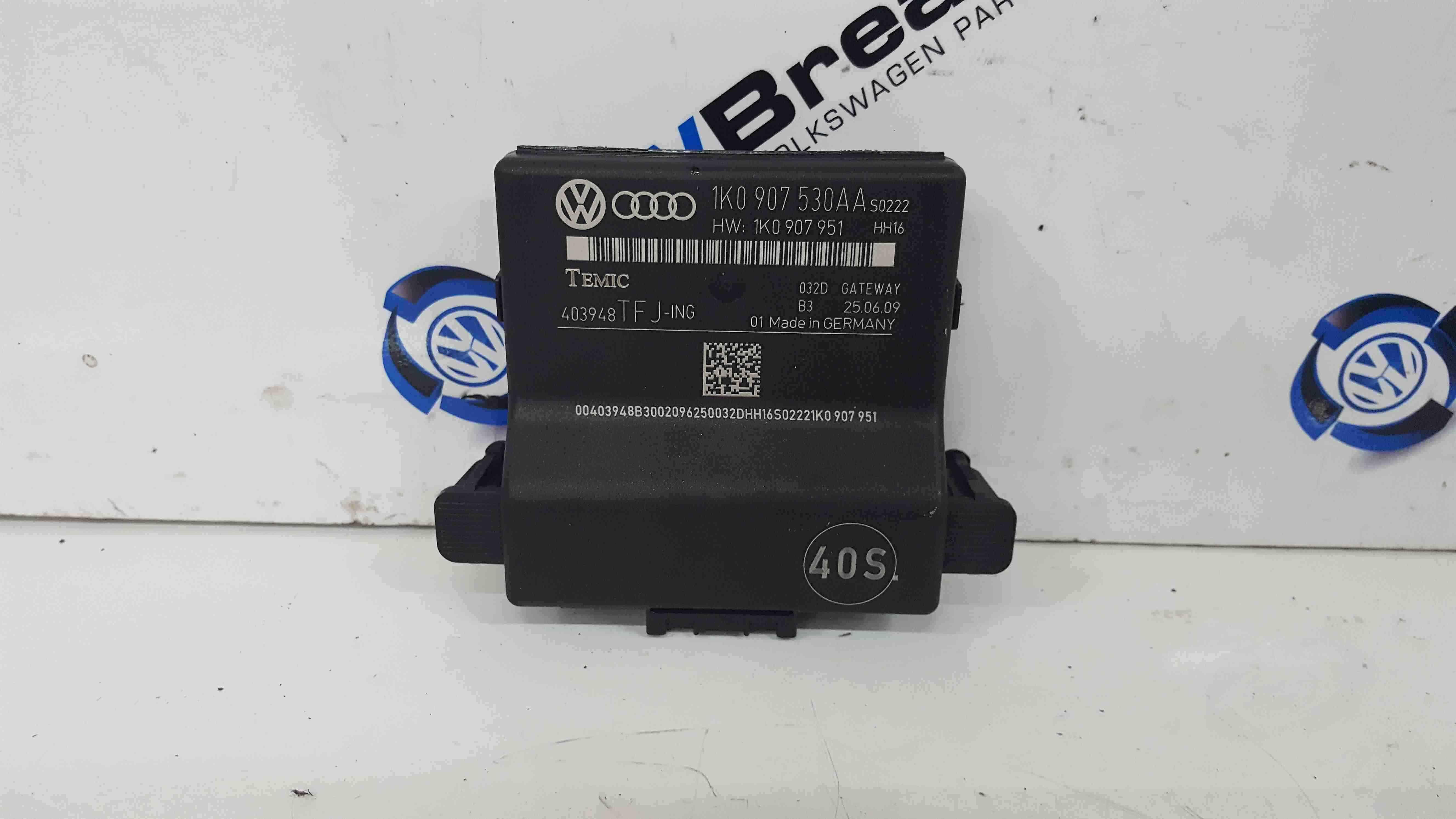Volkswagen Golf MK6 2009-2012 Gateway Control Module 1k0907530aa