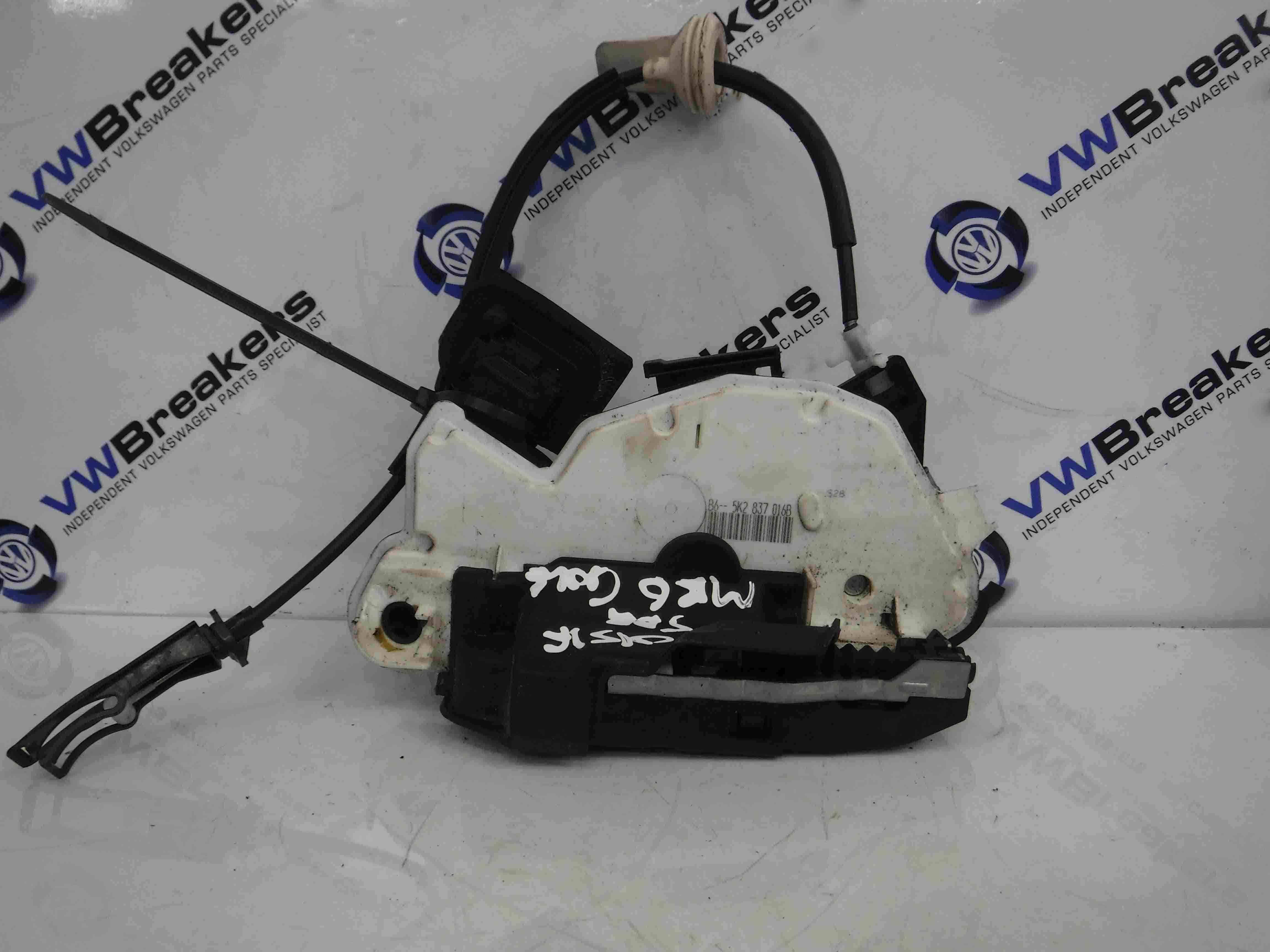 Volkswagen Golf MK6 2009-2012 OSF Front Door Lock Mechanism 3dr  5K2837016B