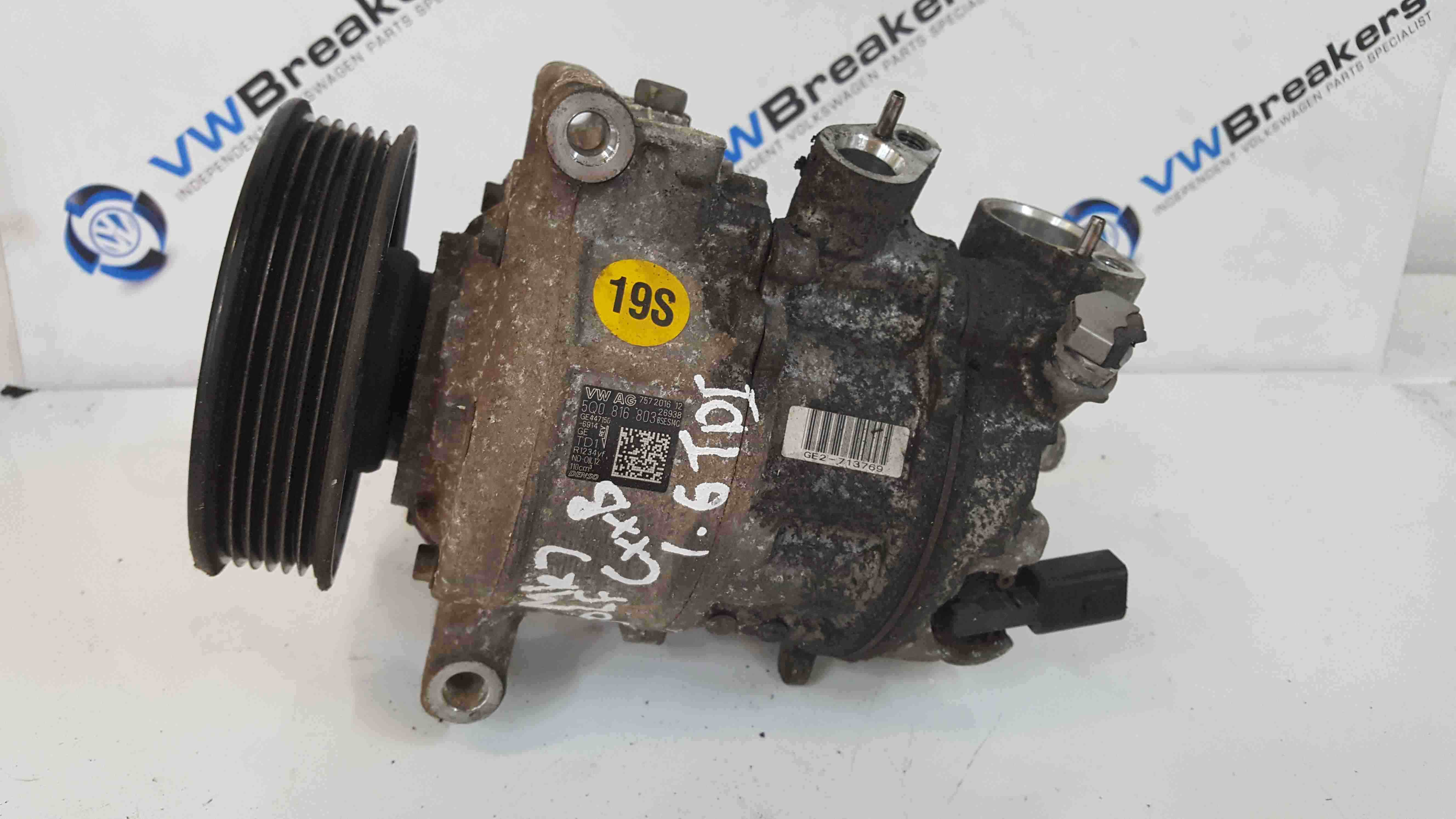 Volkswagen Golf MK7 2012-2017 Aircon Pump Compressor Unit 5Q0816803