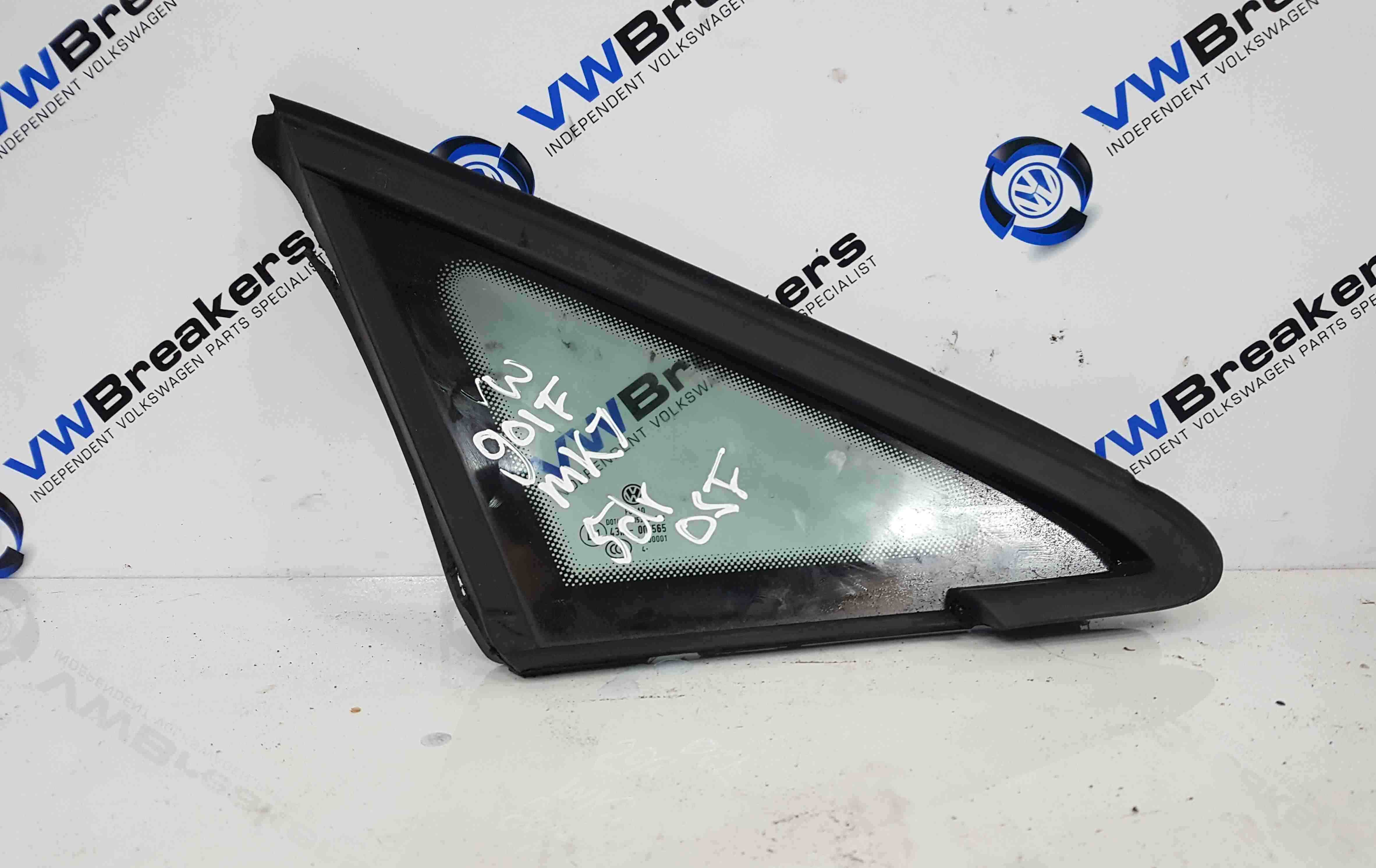 Volkswagen Golf MK7 2012-2017 Drivers OSF Front Small Window Glass