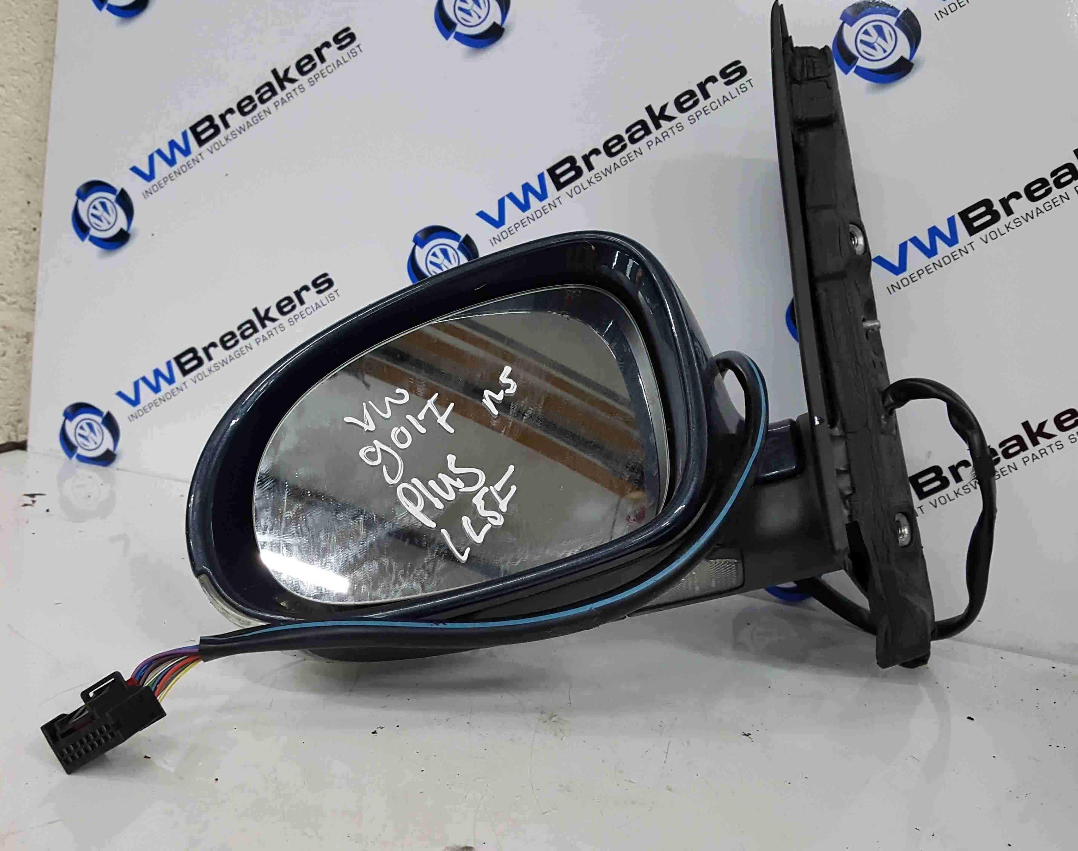 Volkswagen Golf Plus MK5 2003-2009 Passenger NS Wing Mirror Blue LC5F FOLDING 00
