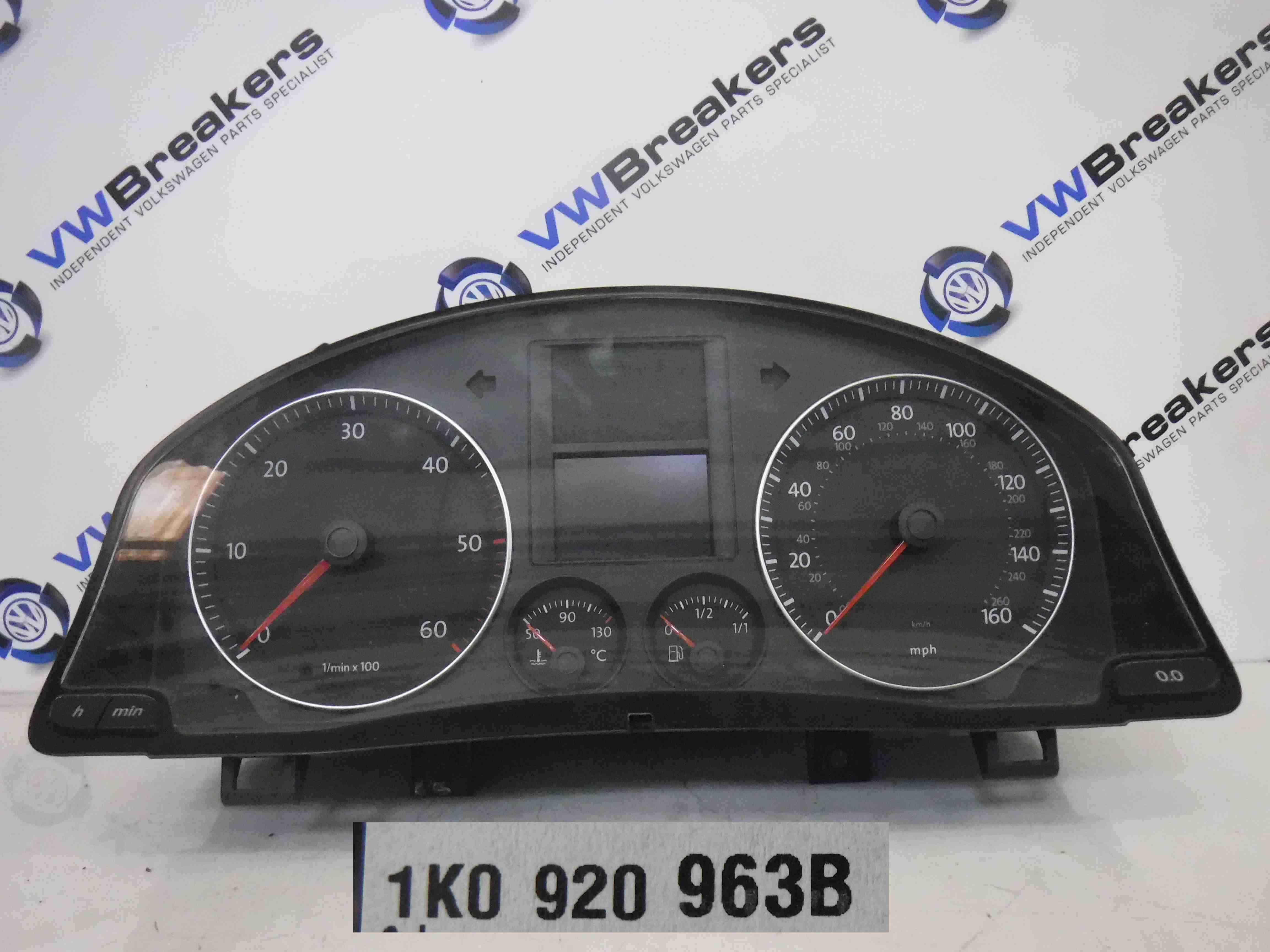Volkswagen Jetta A5 Golf Mk5 2005-2011 Instrument Panel Dials Gauges Clocks 98K