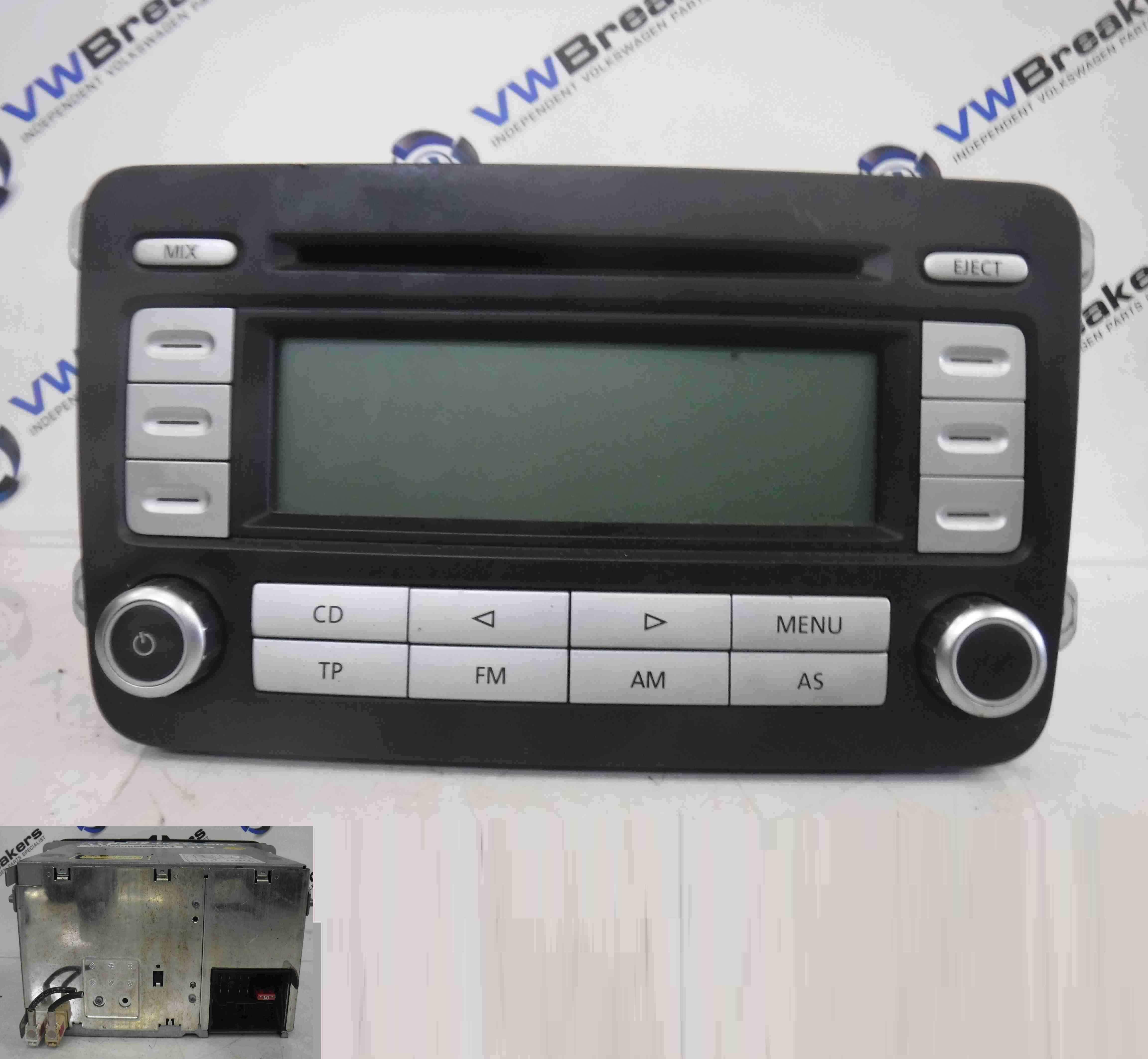 Volkswagen Golf MK5 2003-2009 Radio Cd Player Head Unit 1K0035186AD