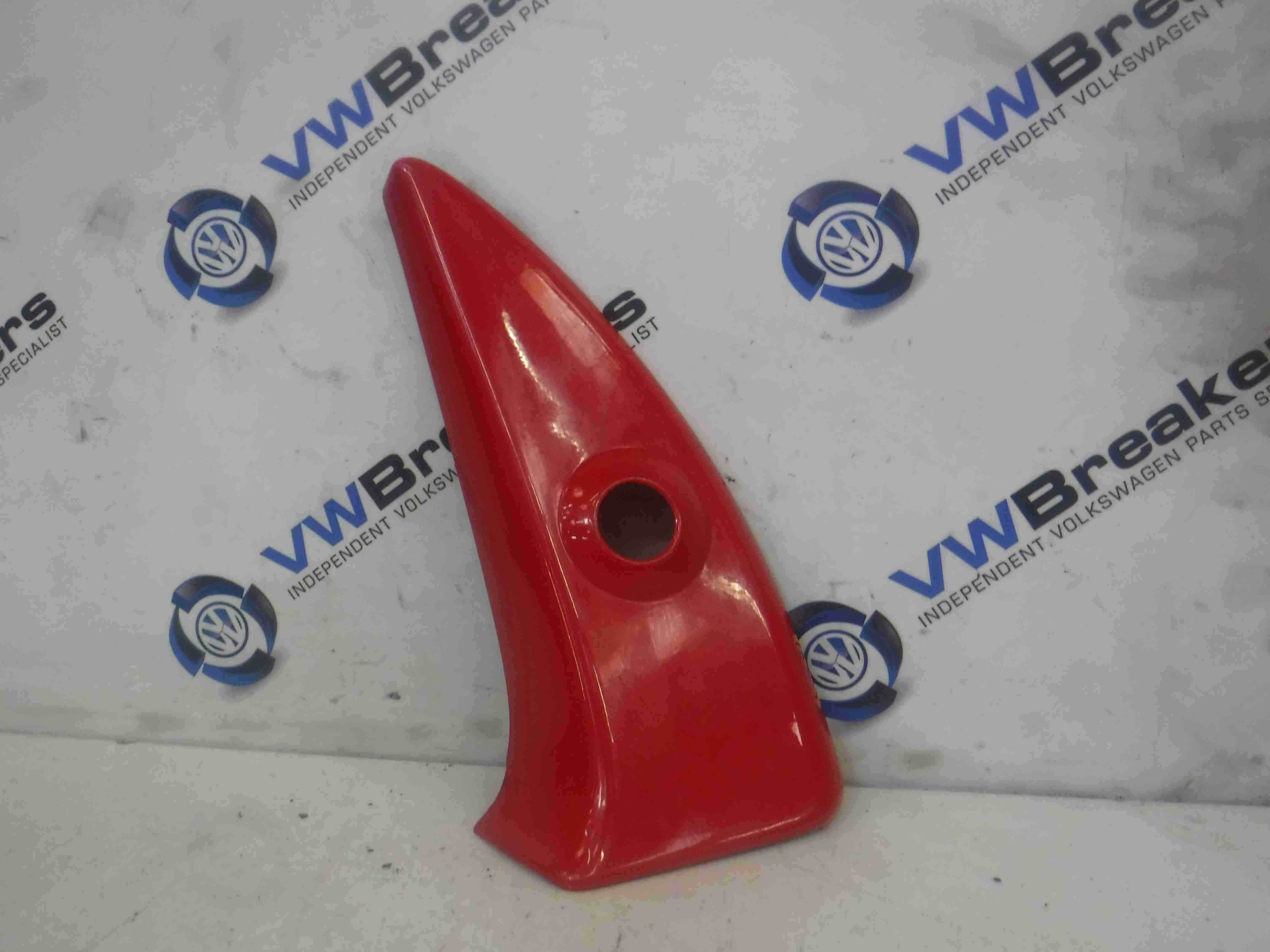 Volkswagen Lupo 1998-2005 Passenger NS Wing Mirror Trim Moulding Red LP3G