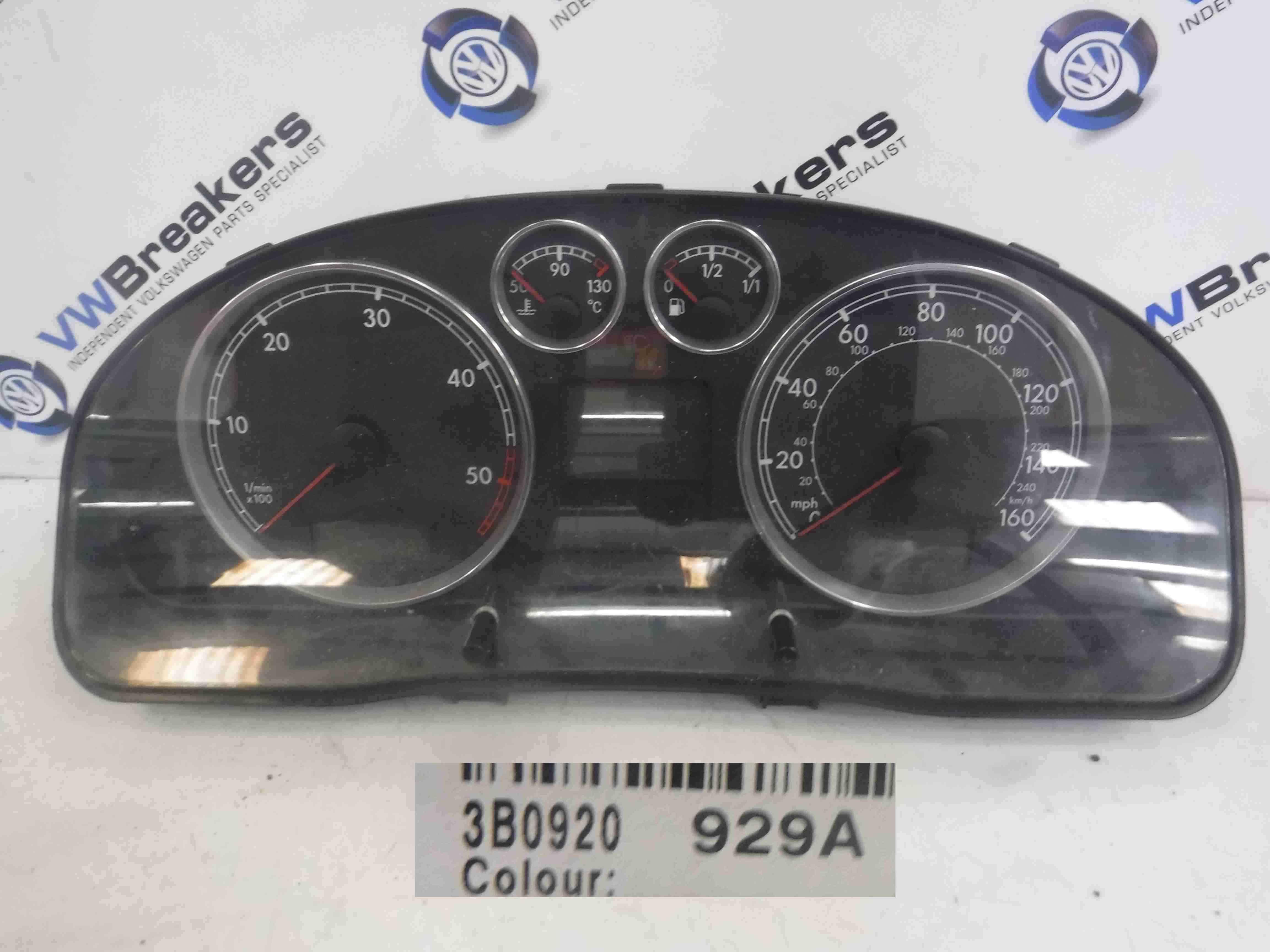 Volkswagen Passat 2001-2005 B5.5 Instrument Panel Dials Gauges Clocks 200K