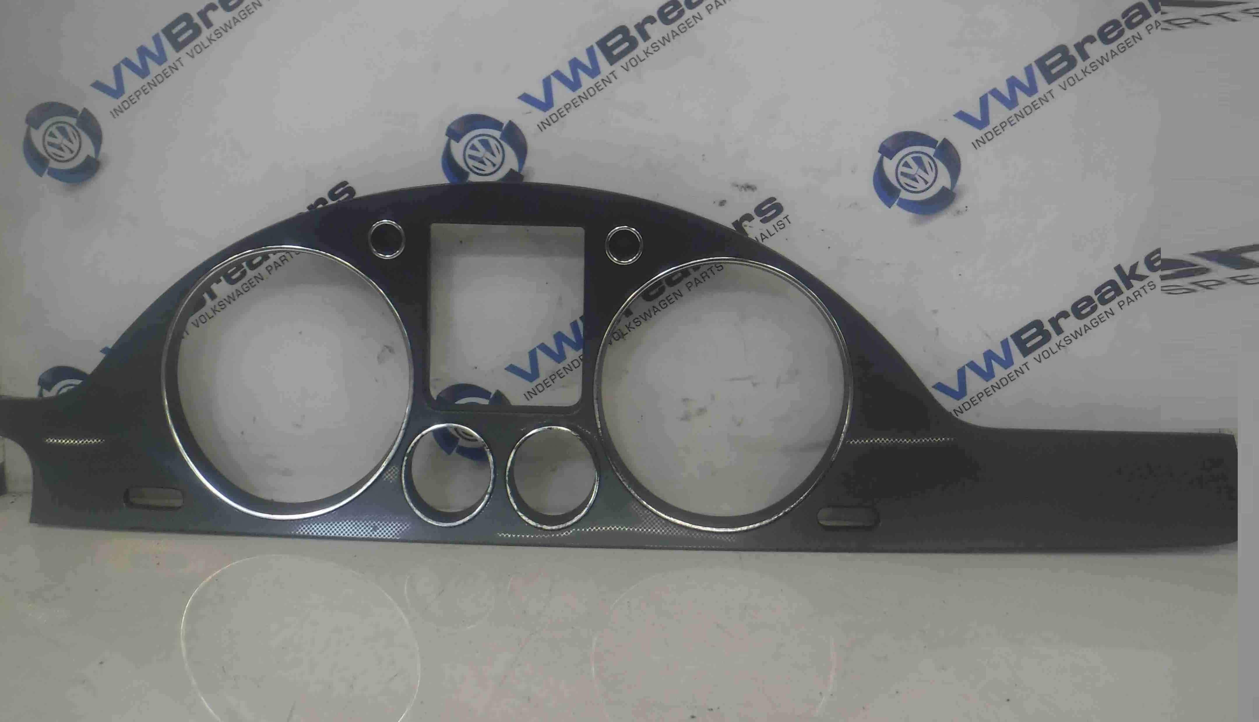 Volkswagen Passat B6 2005-2010 Dashboard Instrument Trim Surround Silver