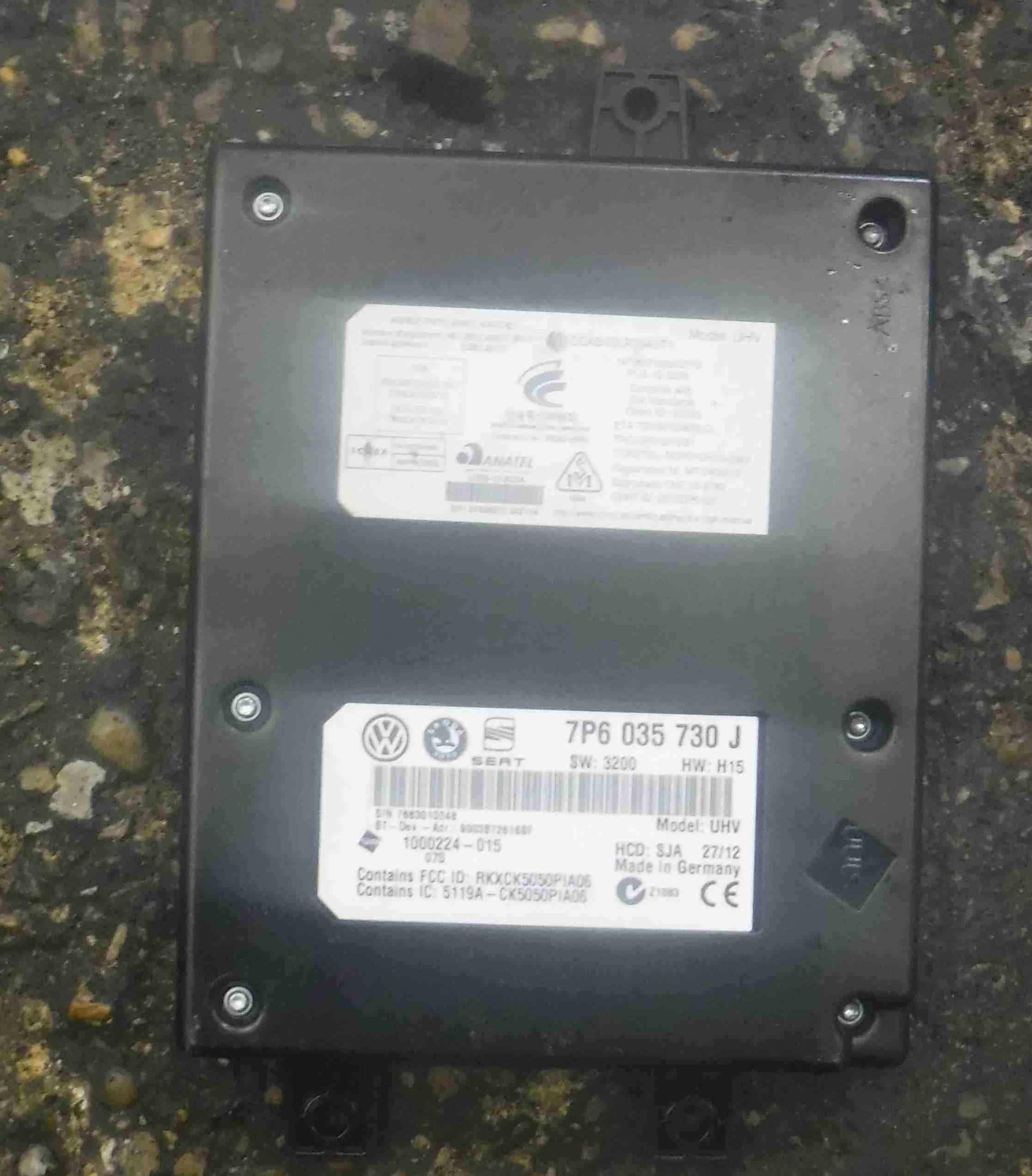 Volkswagen Passat B7 2010-2015 Bluetooth Box Module 7P6035730J