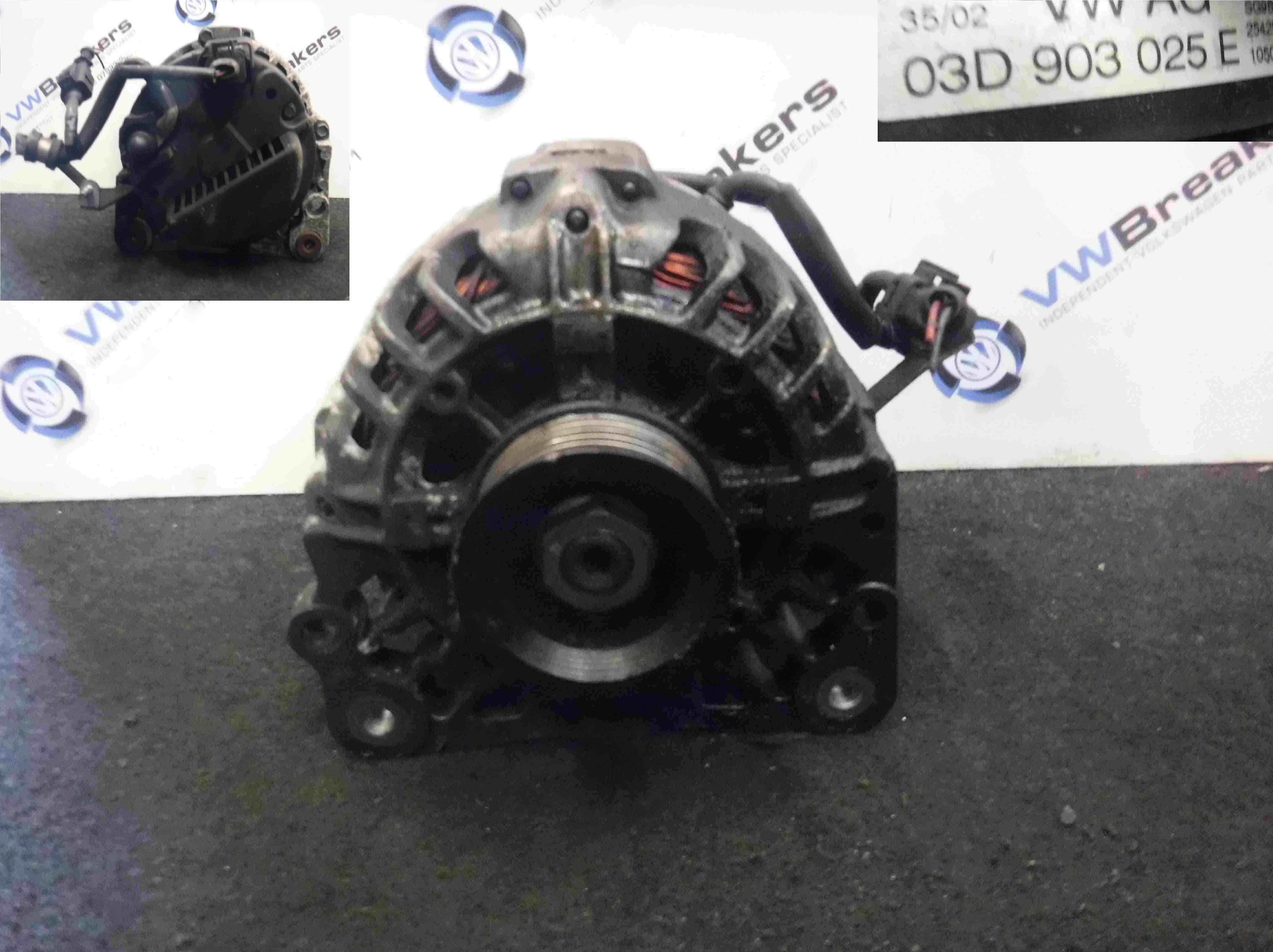 Volkswagen Polo 2003-2006 9N 1.2 12v Alternator 03D903025H 03D903925E